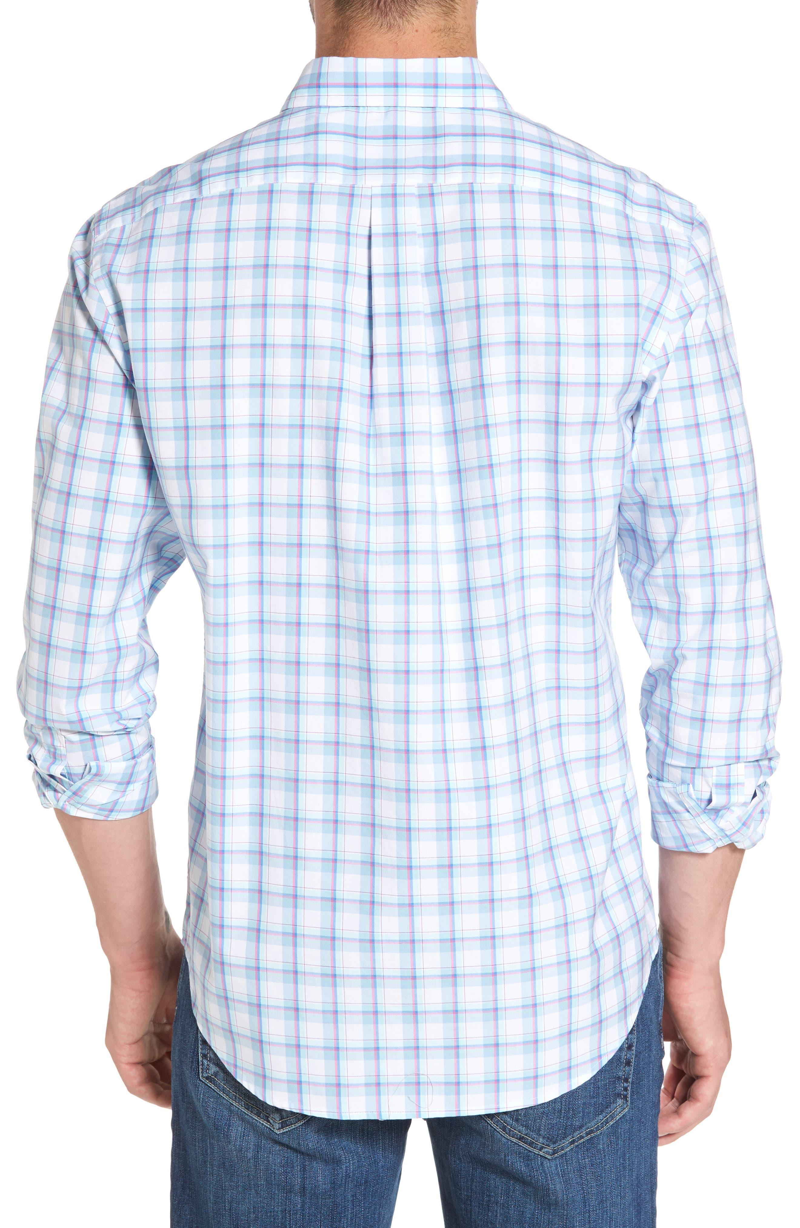 Plaid Classic Fit Sport Shirt,                             Alternate thumbnail 2, color,                             Jake Blue
