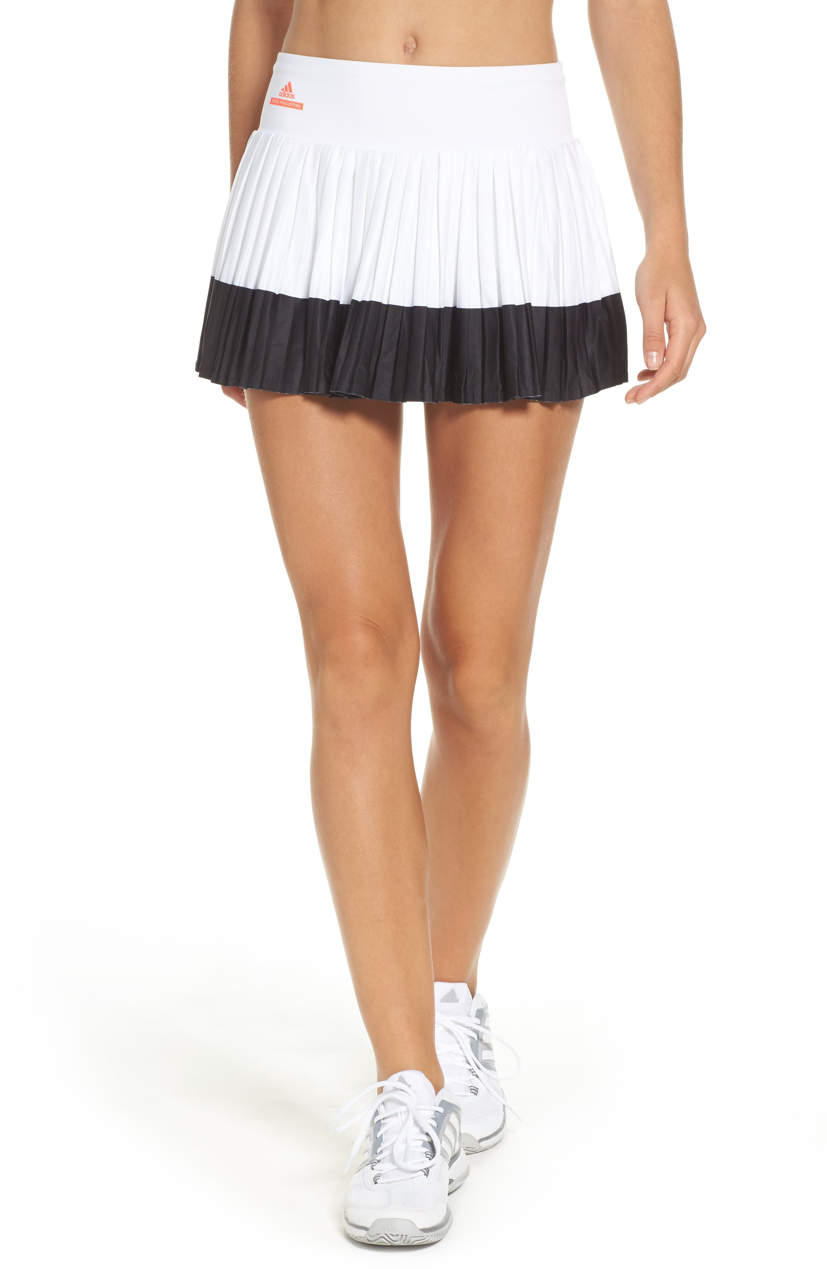 Barricade Skirt,                         Main,                         color, White/ Black