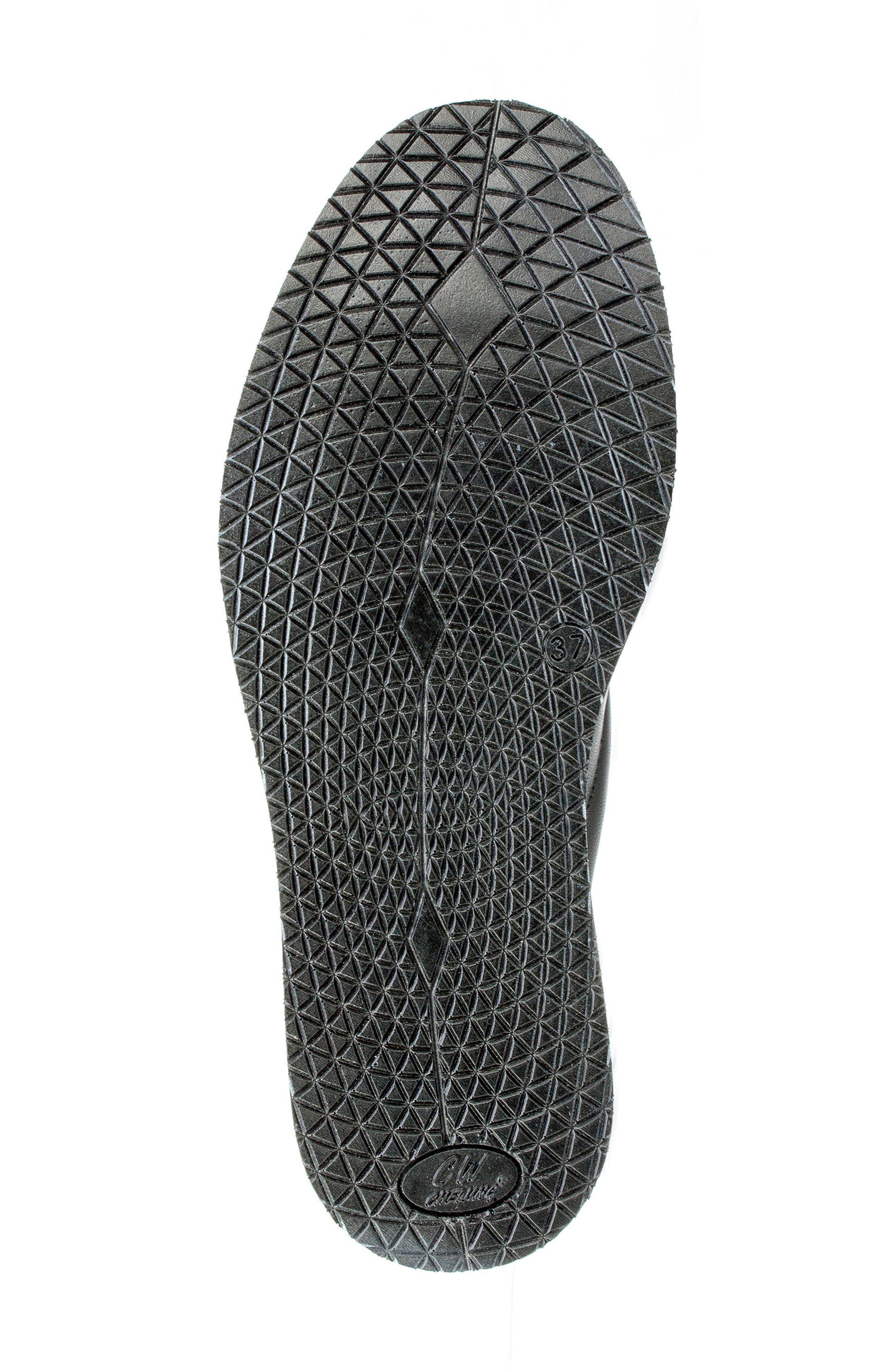 Leanna Platform Sandal,                             Alternate thumbnail 4, color,                             Black Leather