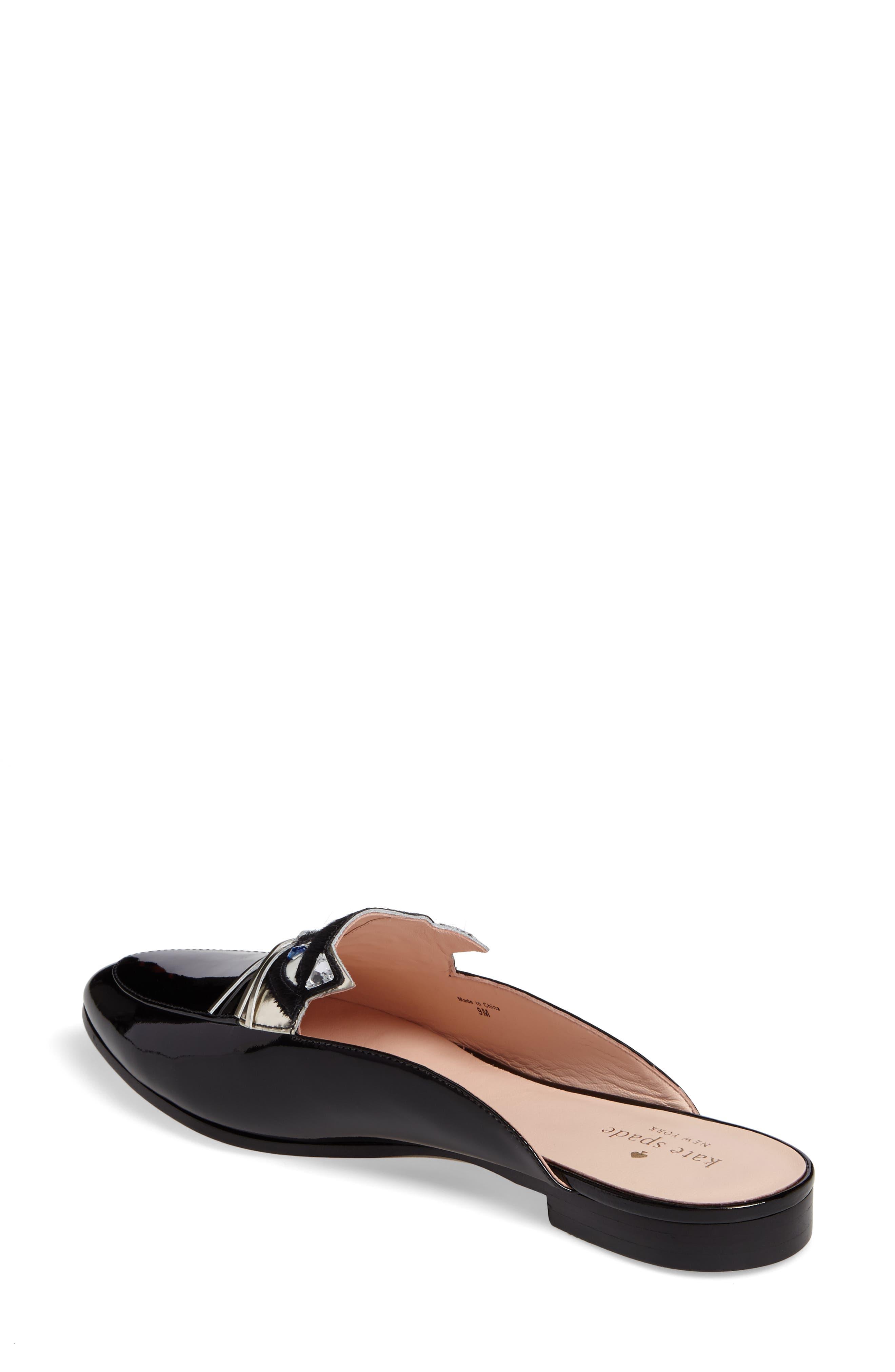 casper mule loafer,                             Alternate thumbnail 2, color,                             Black Patent
