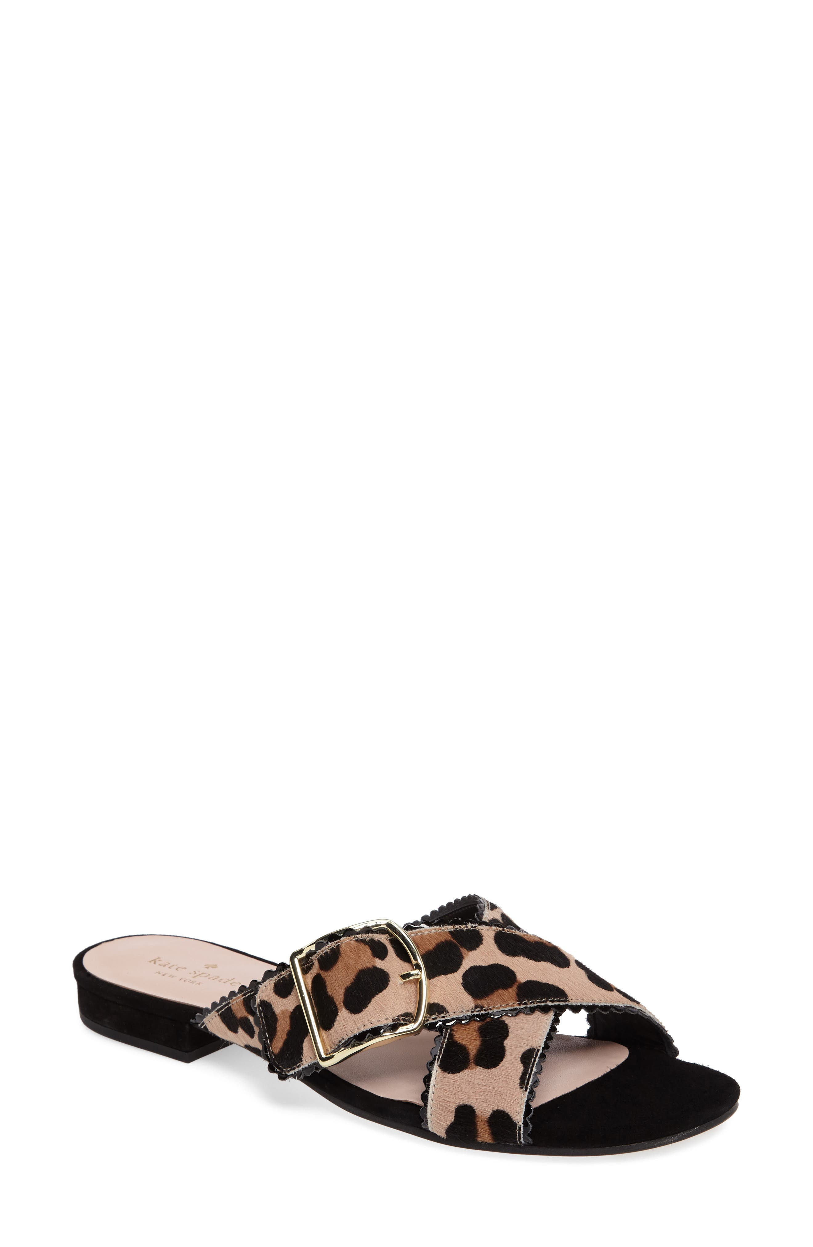 faris sandal,                         Main,                         color, Blush/ Fawn Leopard