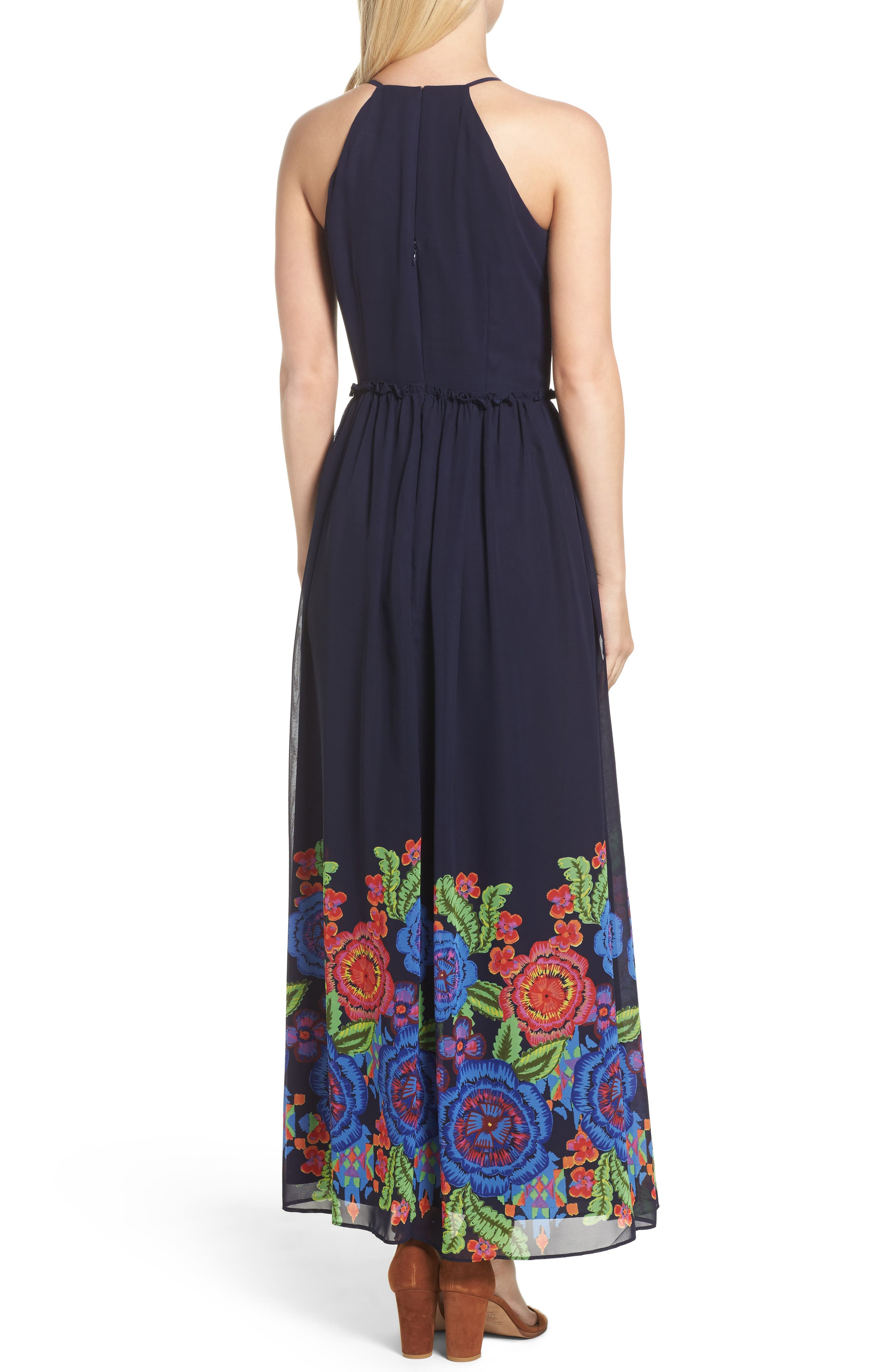 Alternate Image 2  - Taylor Dresses Zinnea Maxi Dress