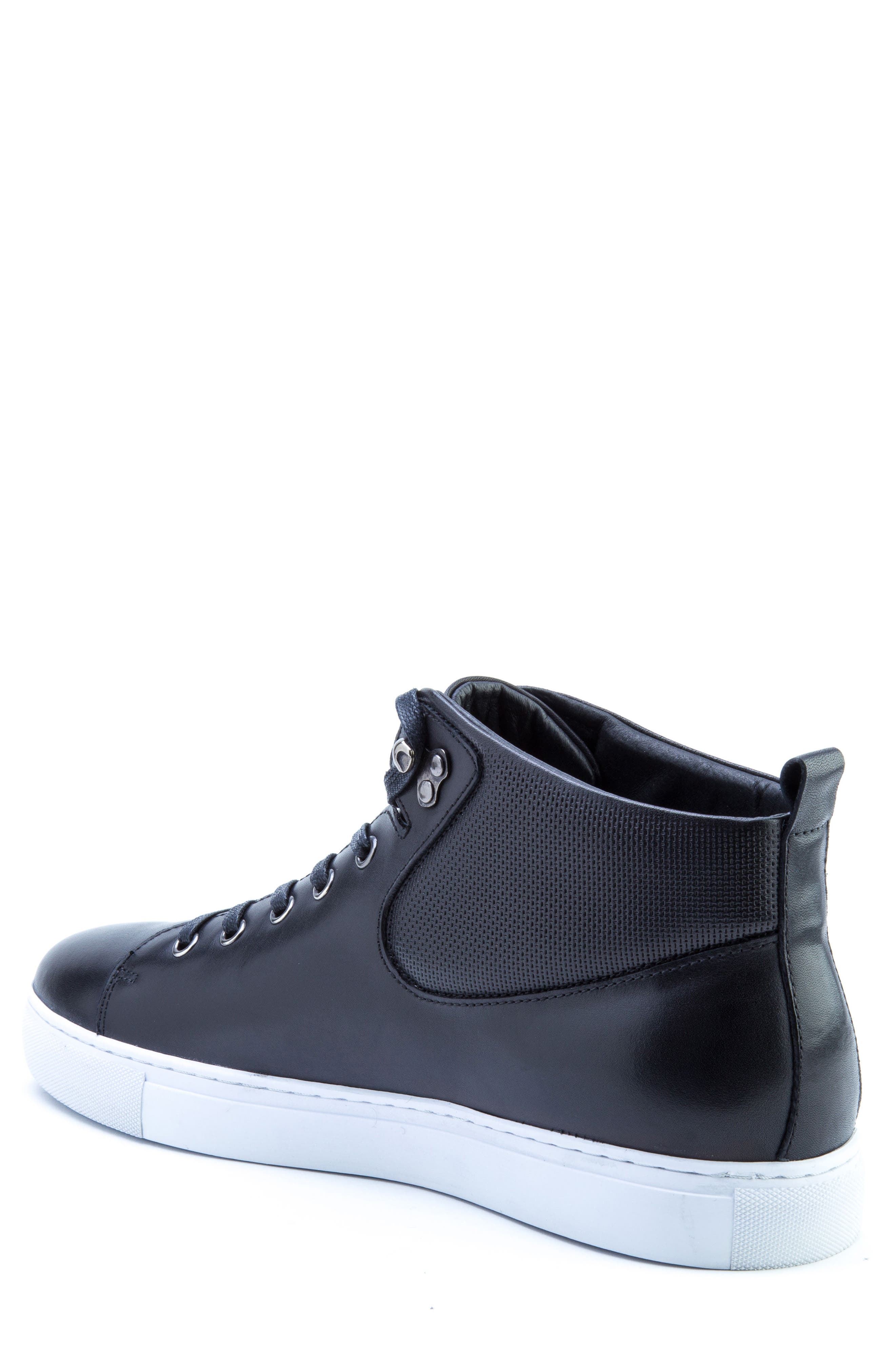 Sanders Sneaker,                             Alternate thumbnail 2, color,                             Black Leather