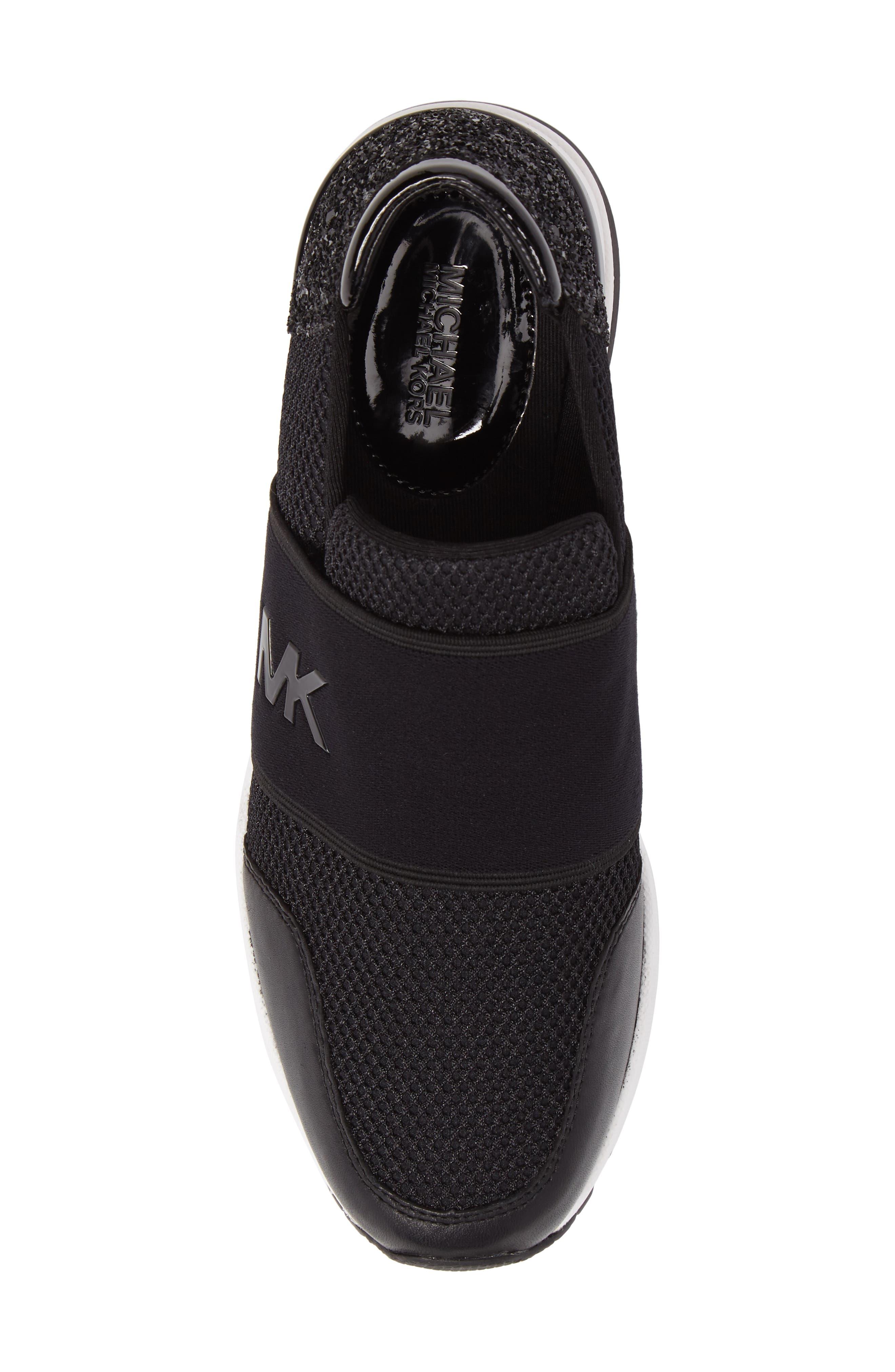 Alternate Image 5  - MICHAEL Michael Kors Felix Slip-On Glitter Sneaker (Women)