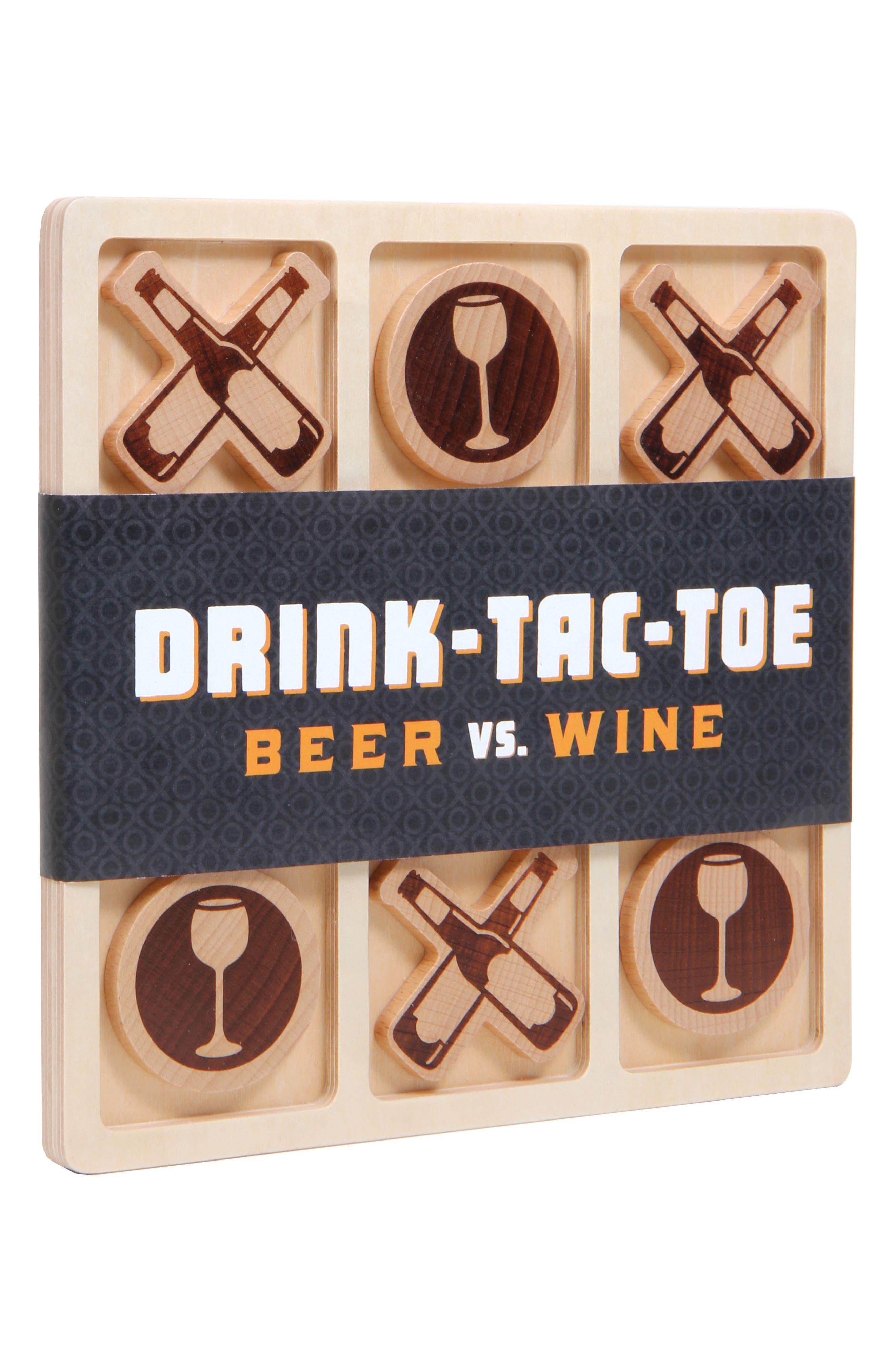 Drink Tac Toe Beer vs. Wine Game,                             Alternate thumbnail 2, color,                             Brown