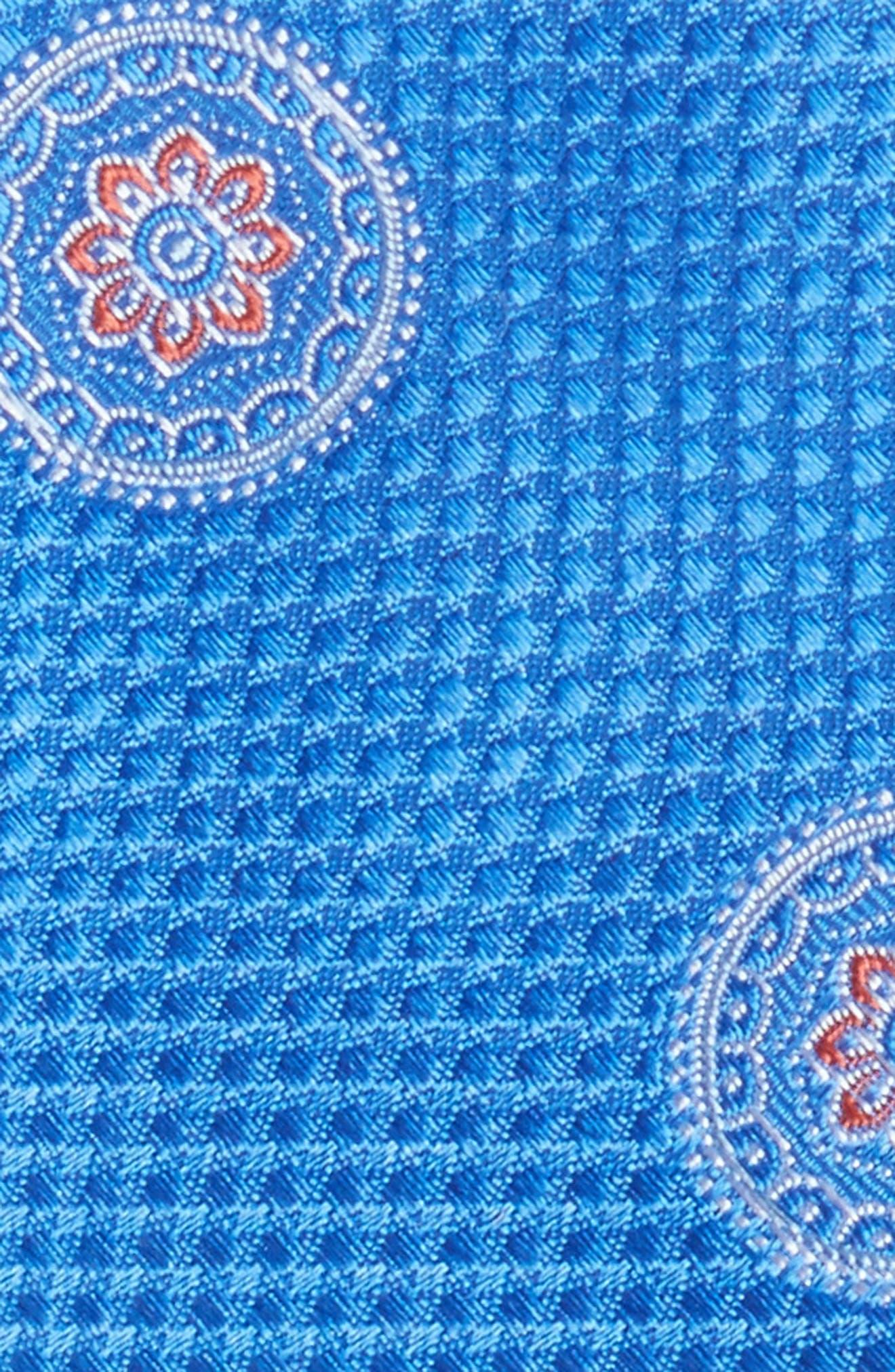 Circular Medallion Silk Tie,                             Alternate thumbnail 2, color,                             Blue