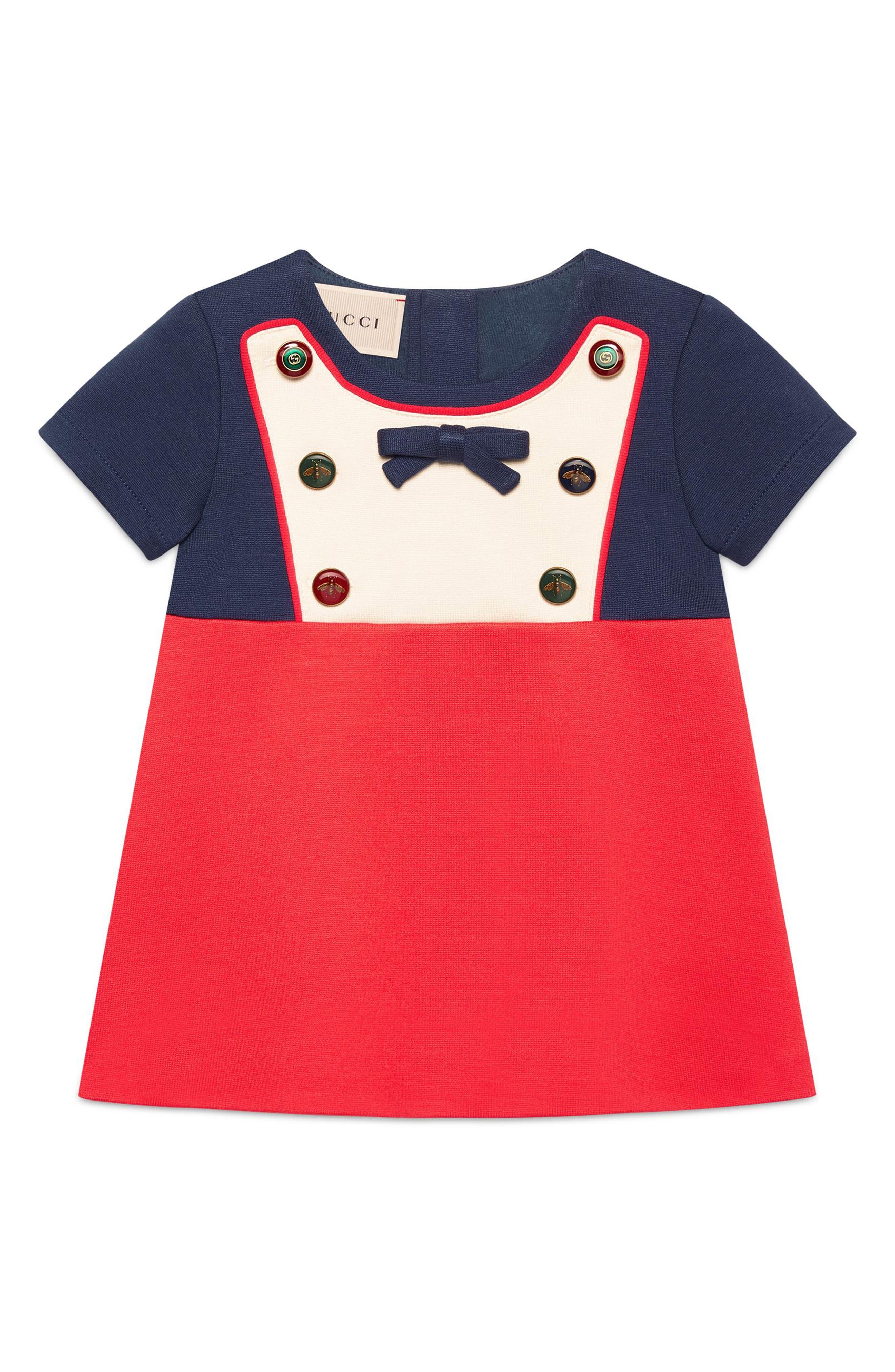 Gucci Colorblock Bib Dress (Baby Girls)