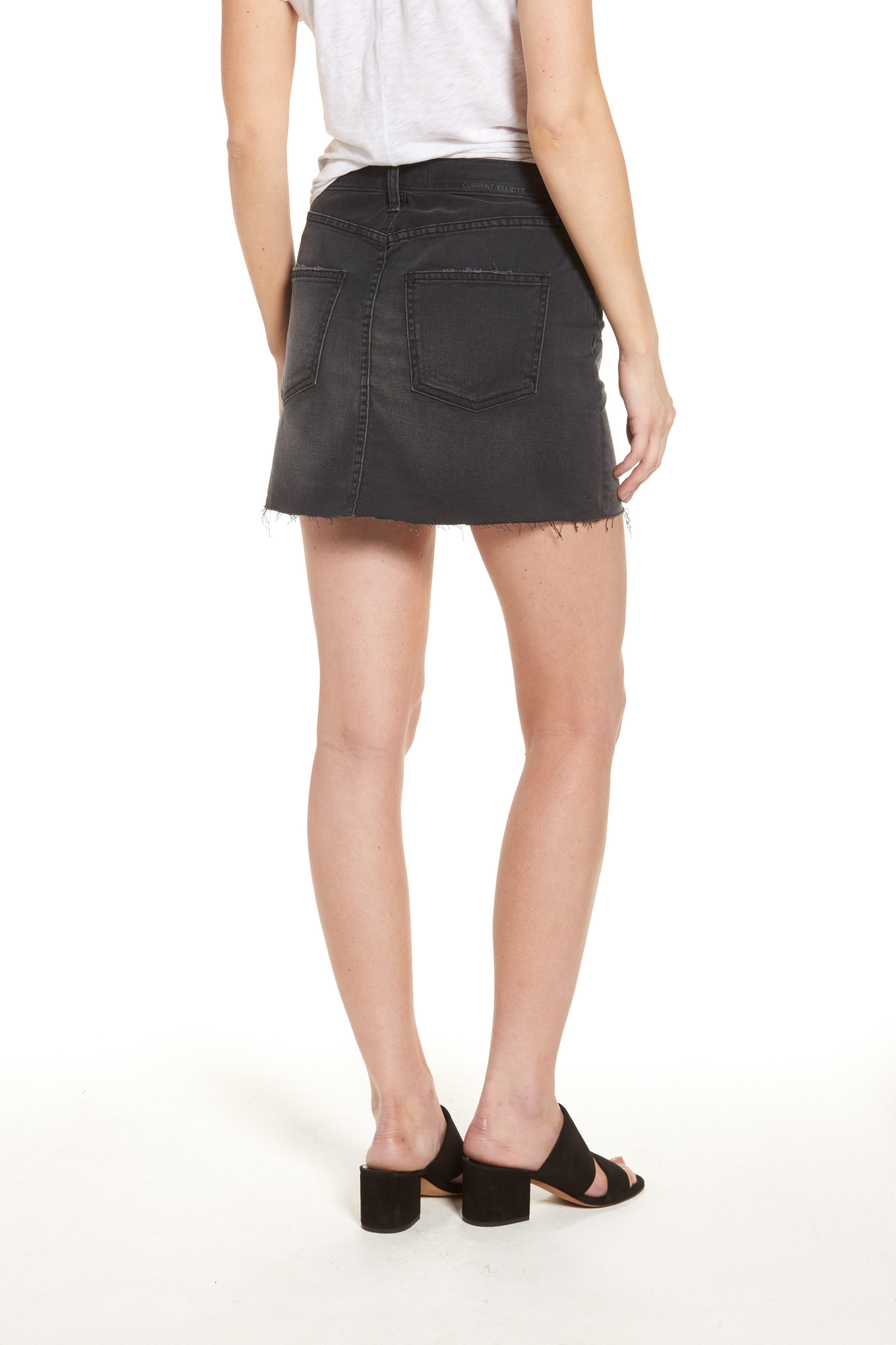 Alternate Image 2  - Current/Elliott Cut Off Miniskirt