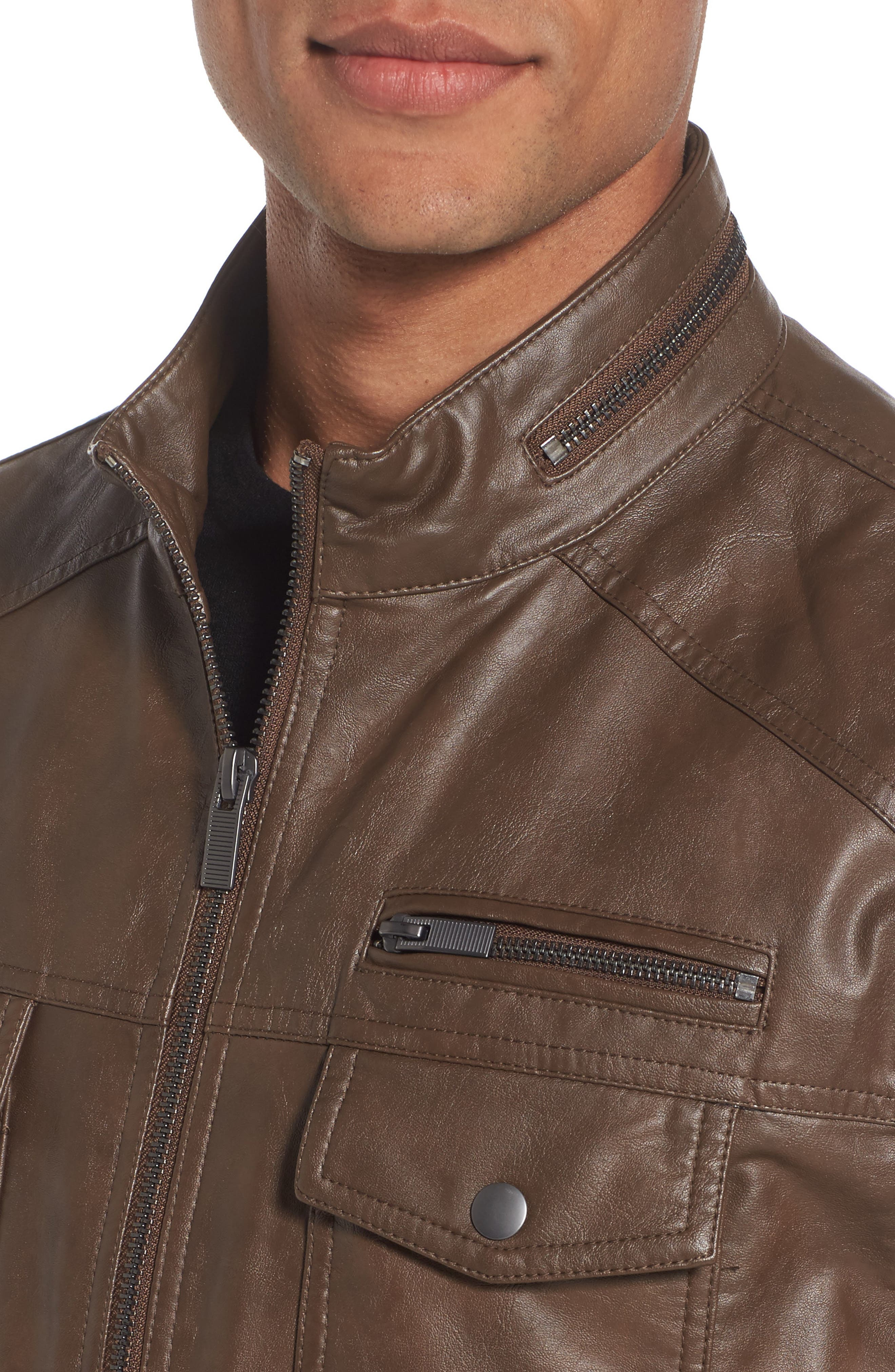Alternate Image 4  - Reaction Kenneth Cole Faux Leather Jacket