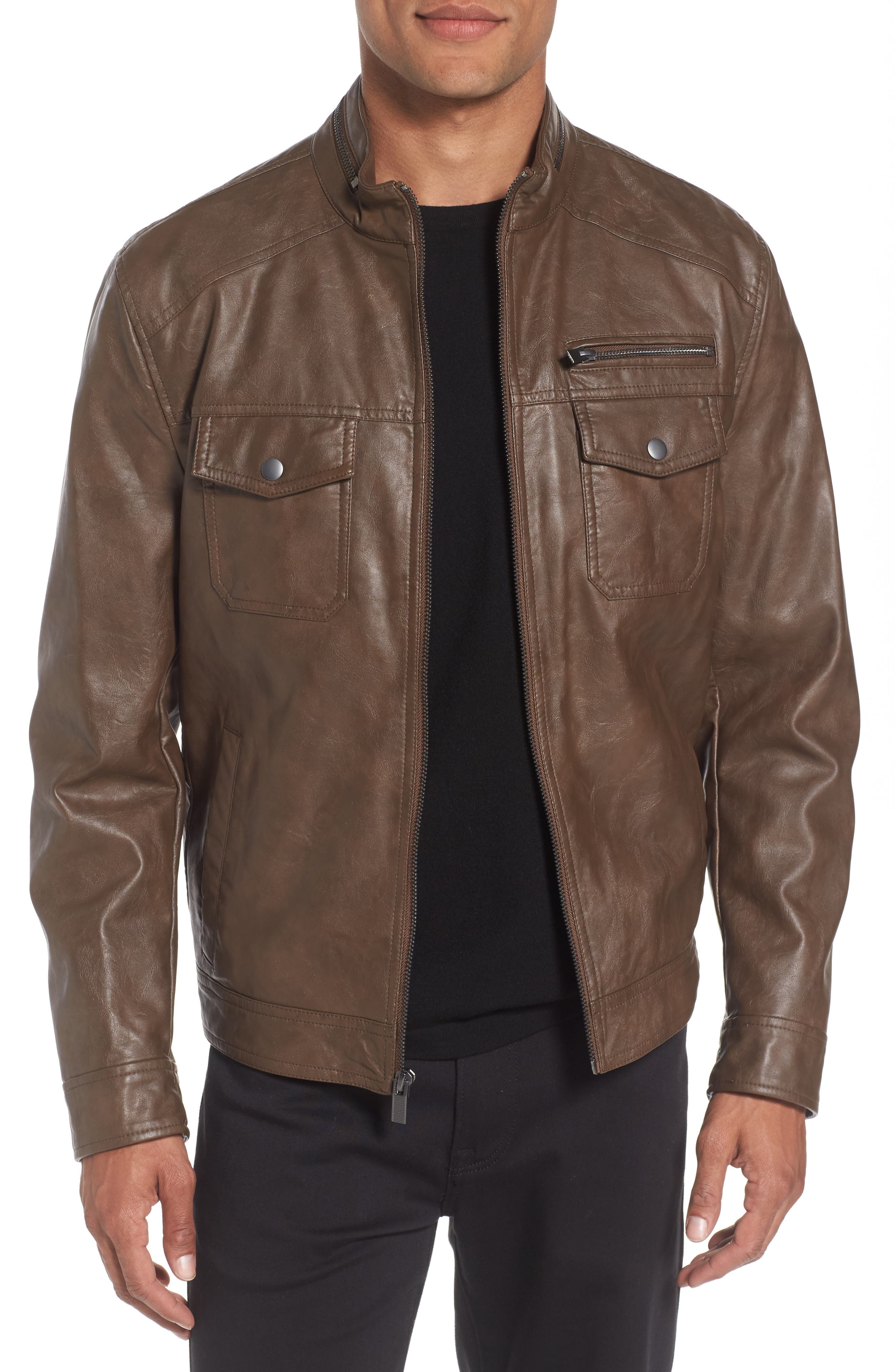 Alternate Image 1 Selected - Reaction Kenneth Cole Faux Leather Jacket