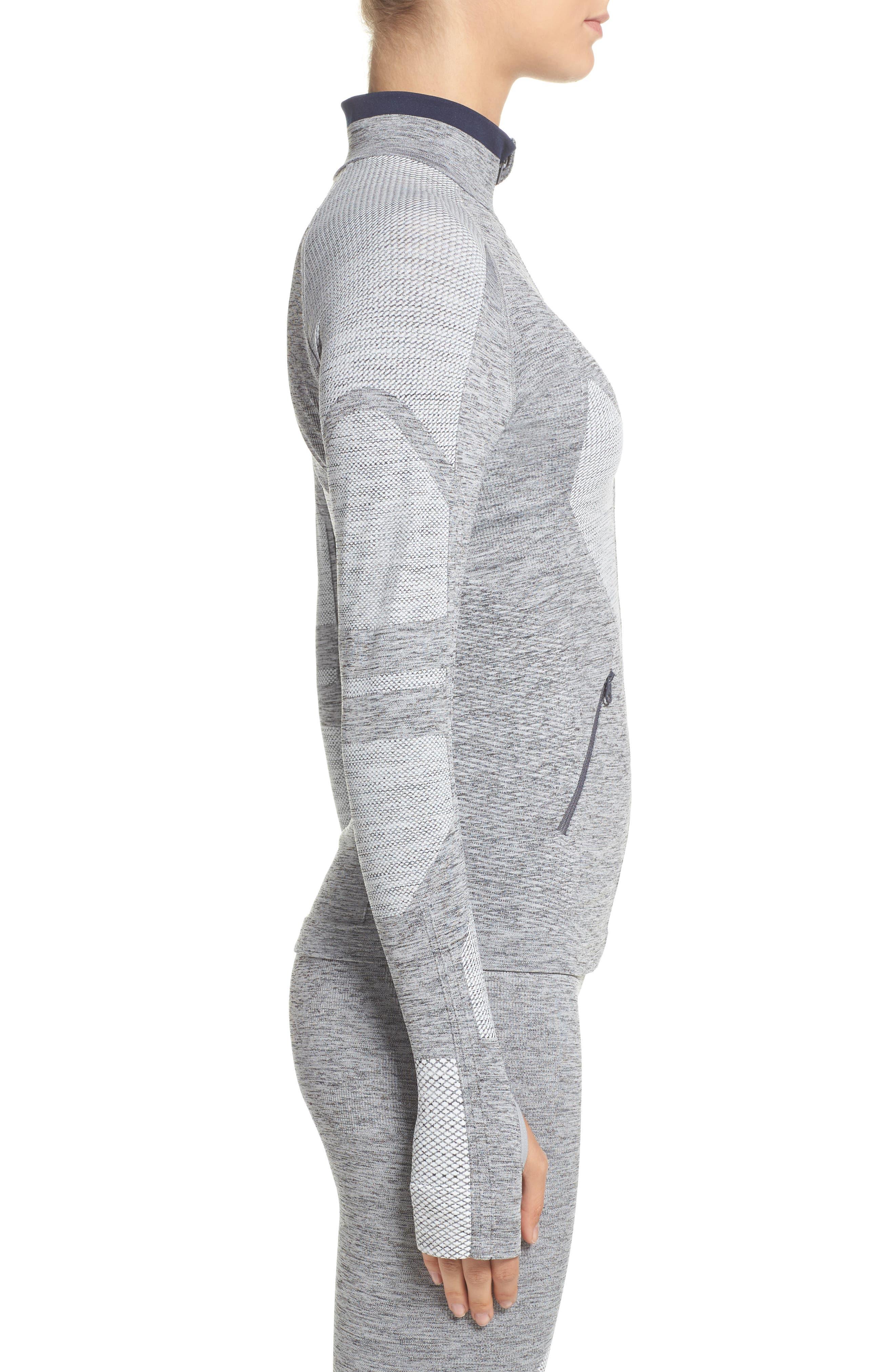 Summit Seamless Jacket,                             Alternate thumbnail 3, color,                             Grey Marl