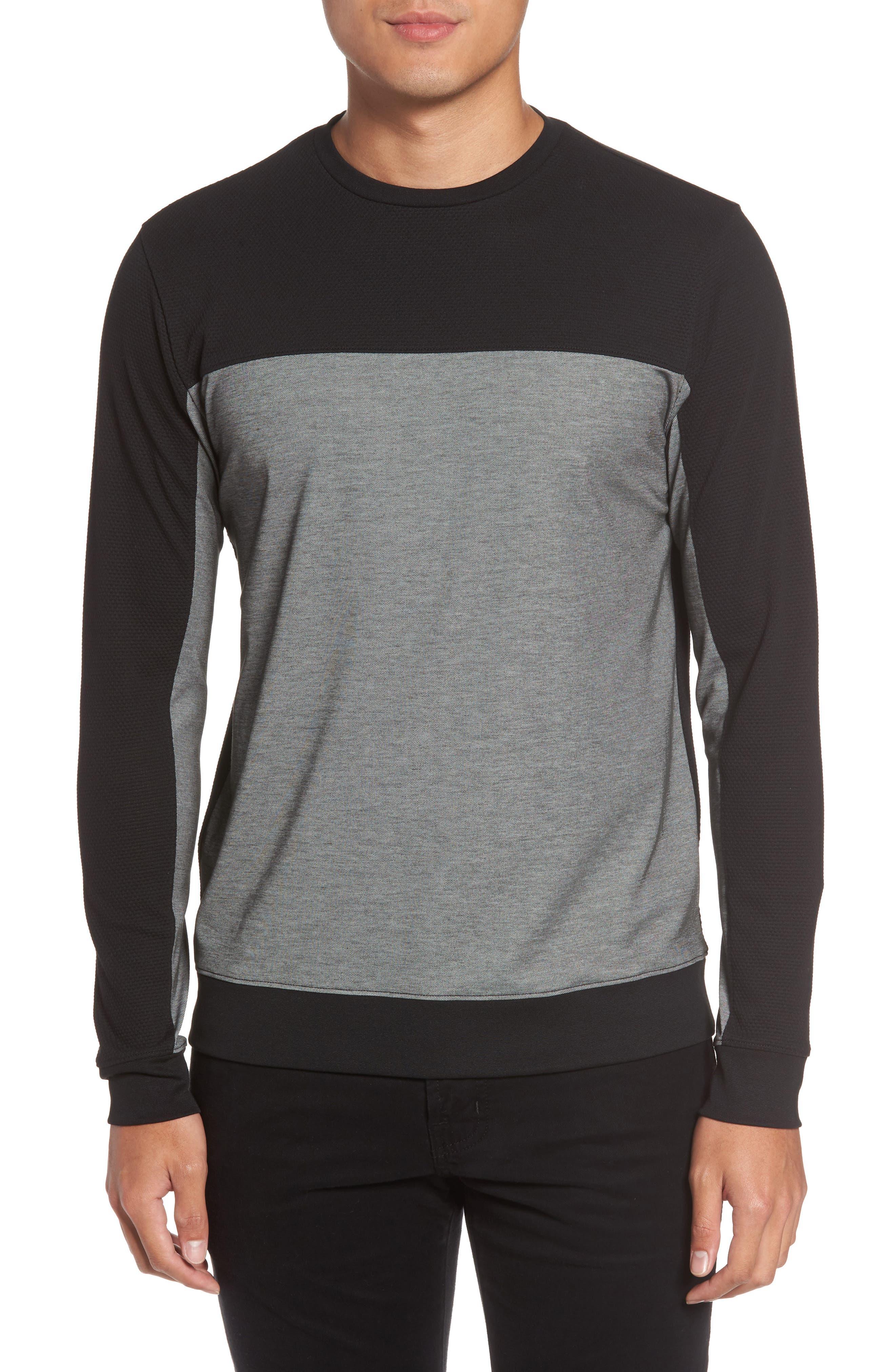 Vince Colorblock Slim Fit Crewneck Sweater