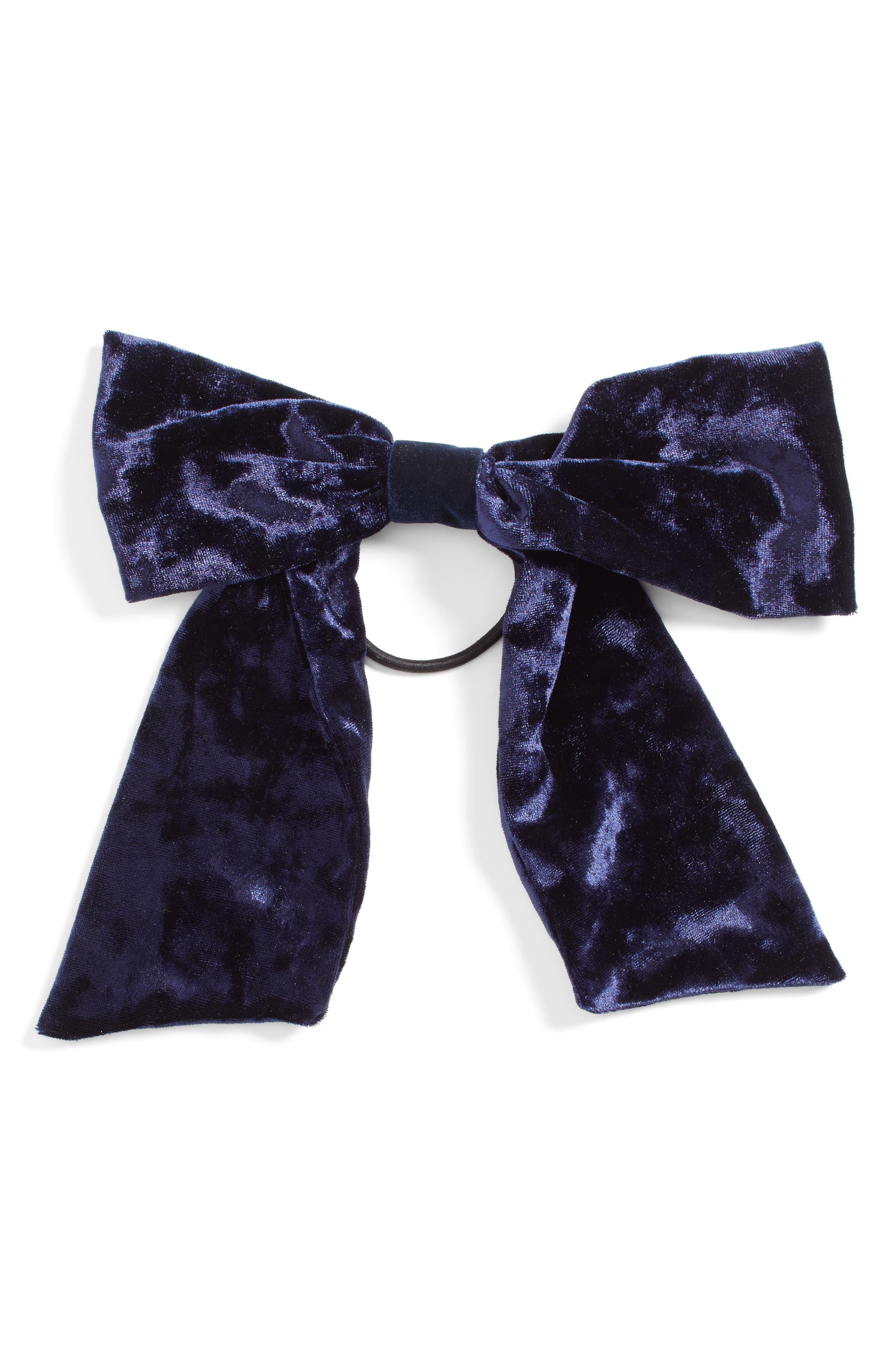 TASHA Velvet Bow Ponytail Holder