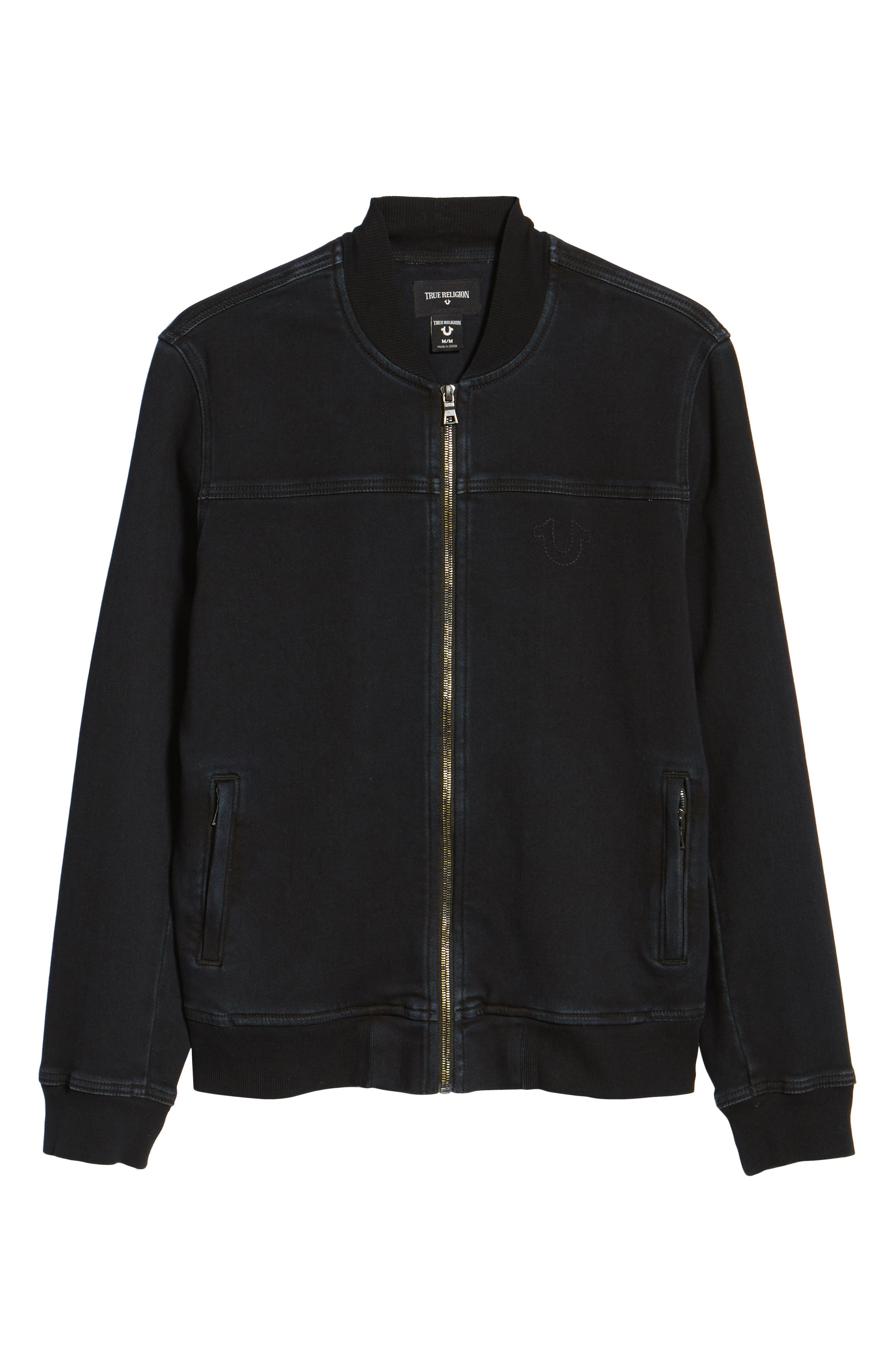 Alternate Image 6  - True Religion Brand Jeans Overdyed Bomber Jacket