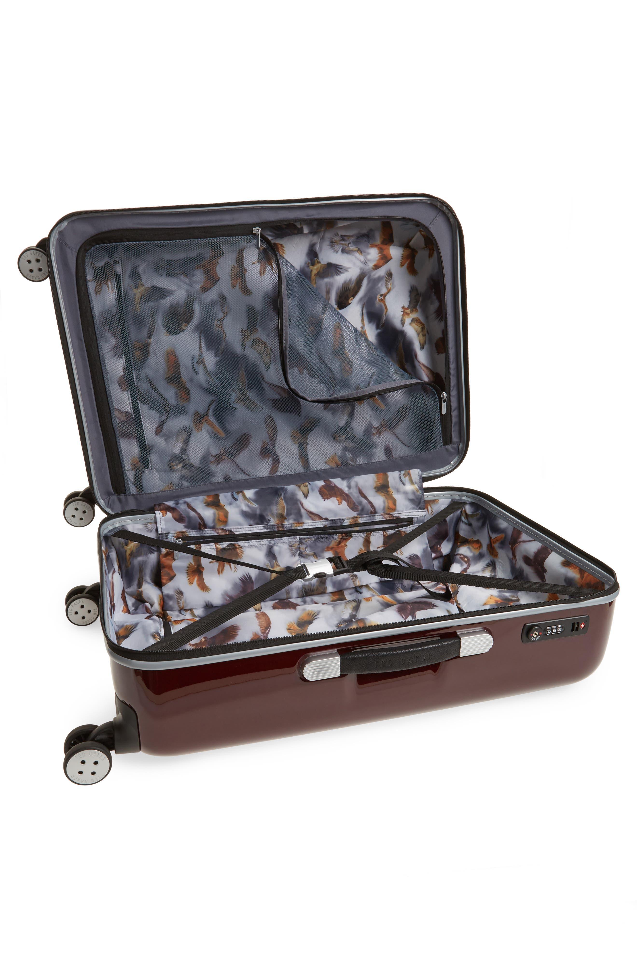 "Medium 28"" Hard Shell Spinner Suitcase,                             Alternate thumbnail 3, color,                             Burg-Graph"