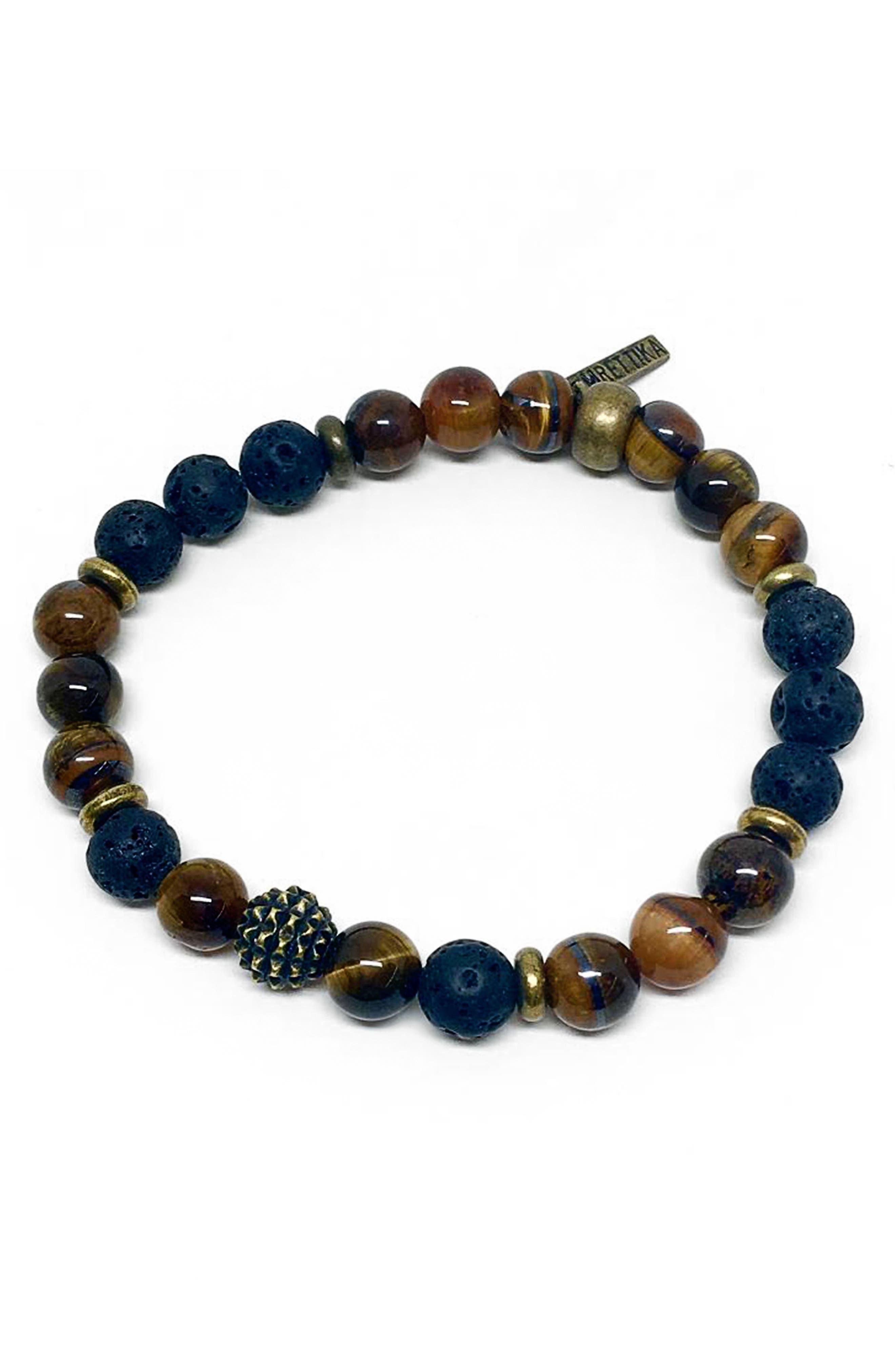 Black Bandit Bracelet,                             Main thumbnail 1, color,                             Brown