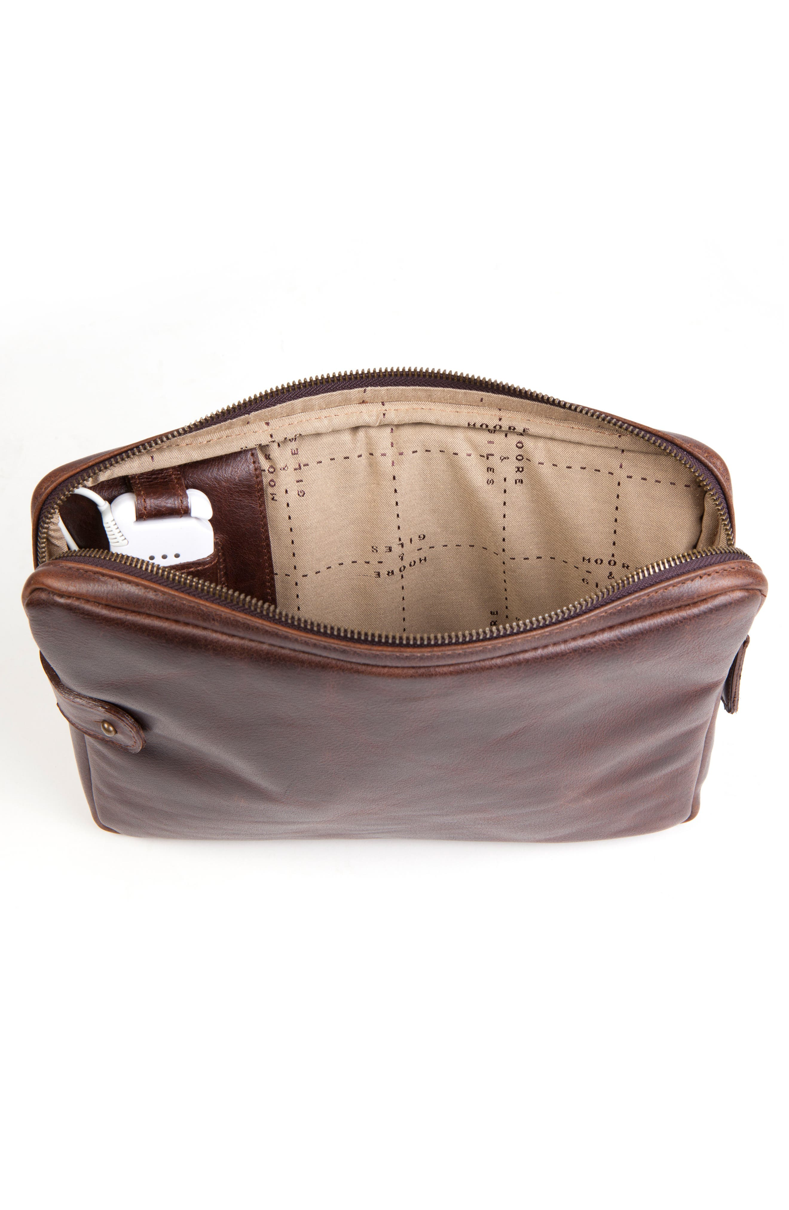 Leather Tablet Sleeve,                             Alternate thumbnail 2, color,                             Titan Milled Brown