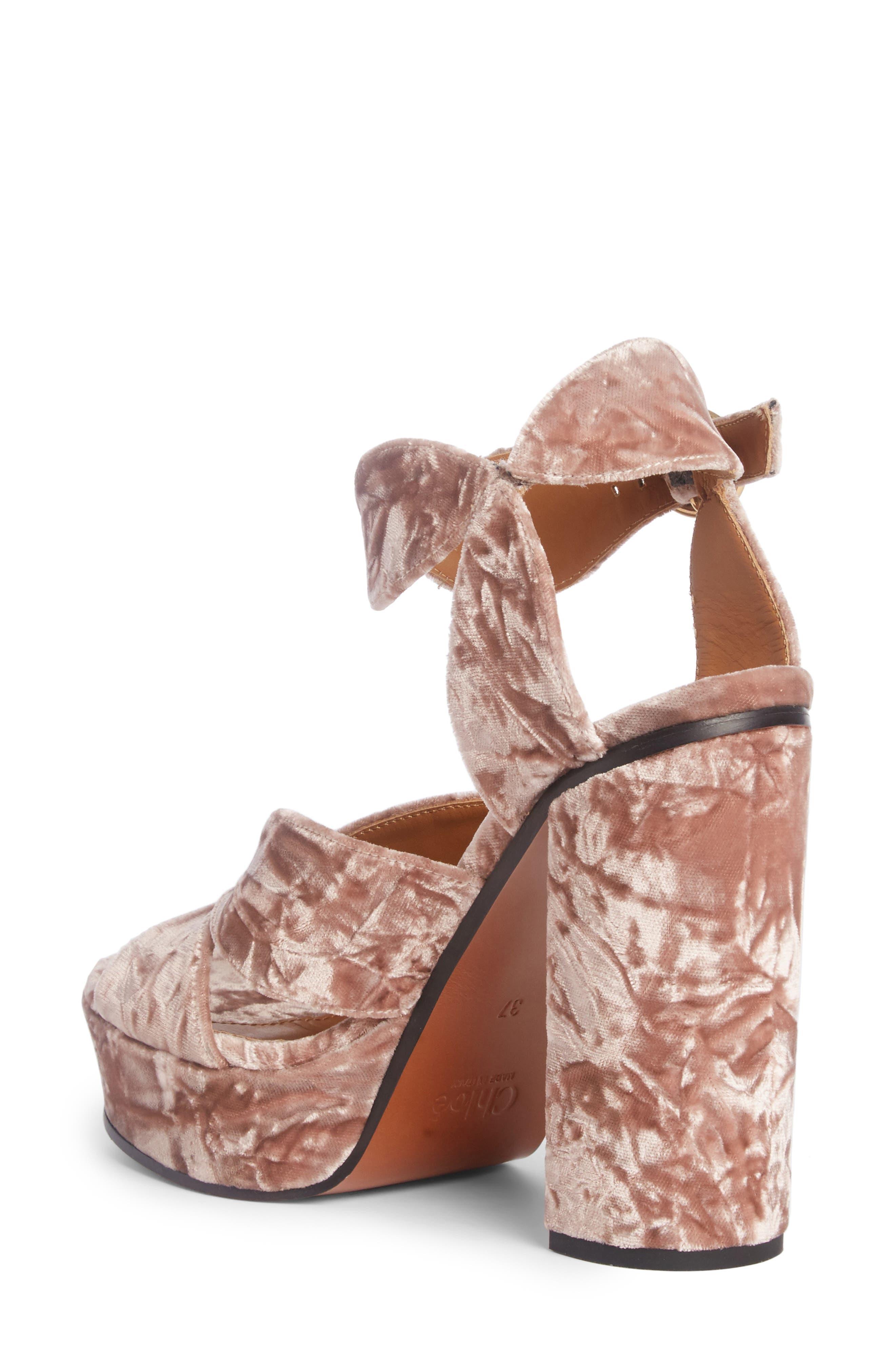 Graphic Leaves Platform Sandal,                             Alternate thumbnail 2, color,                             Tan Rose Velvet