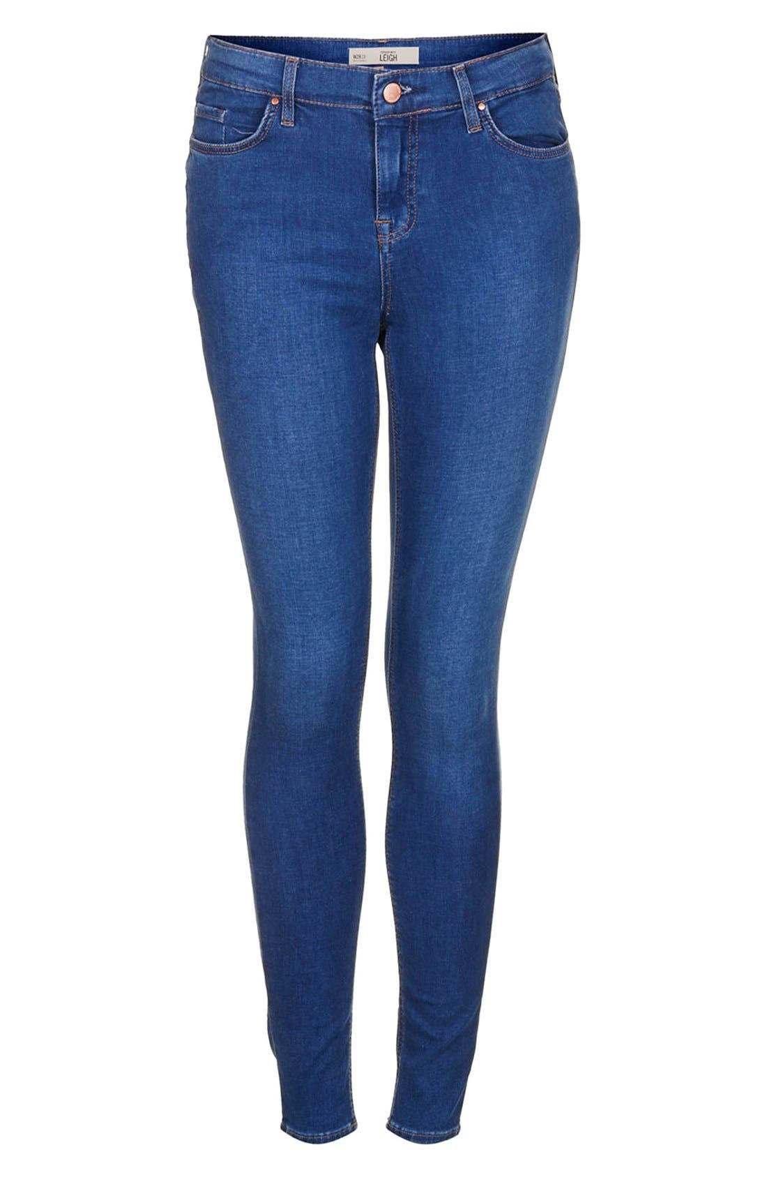 Alternate Image 3  - Topshop 'Leigh' Ankle Skinny Jeans (Mid Denim)
