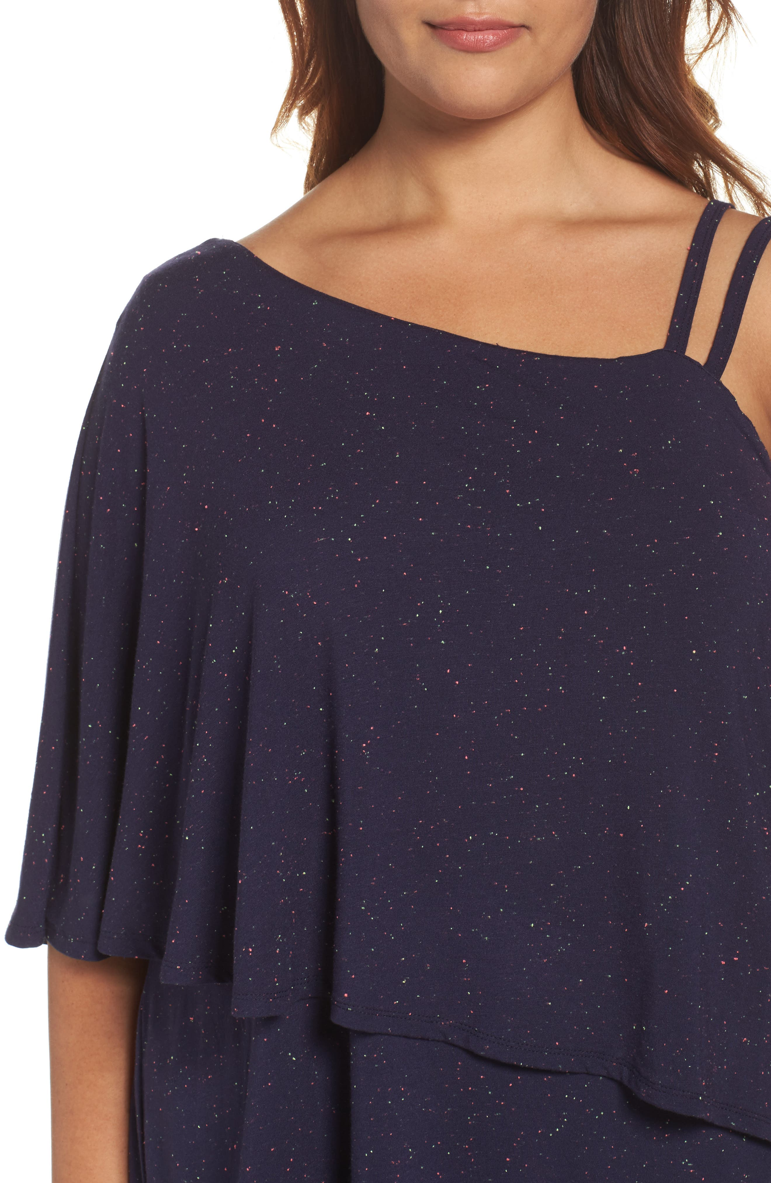 Alternate Image 4  - Wit & Wisdom One-Shoulder Ruffle Asymmetrical Top (Plus Size) (Nordstrom Exclusive)