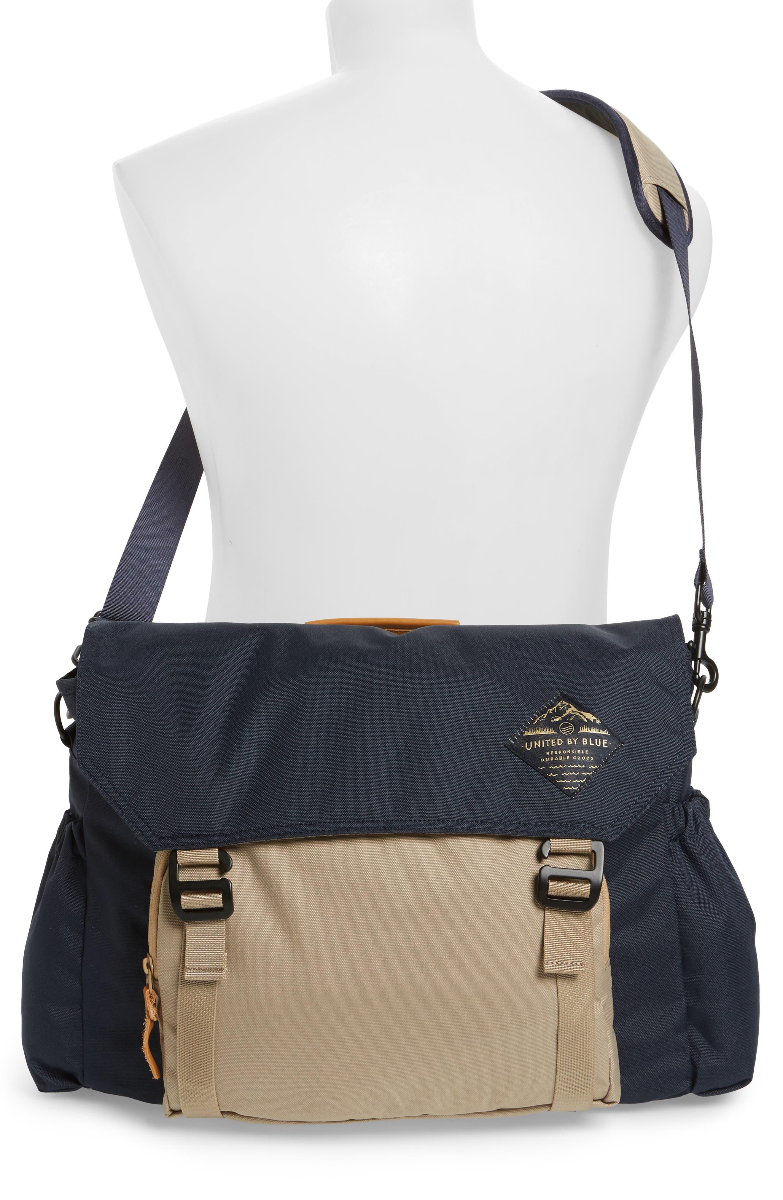 Crossridge Messenger Bag,                             Alternate thumbnail 2, color,                             Navy/ Tan