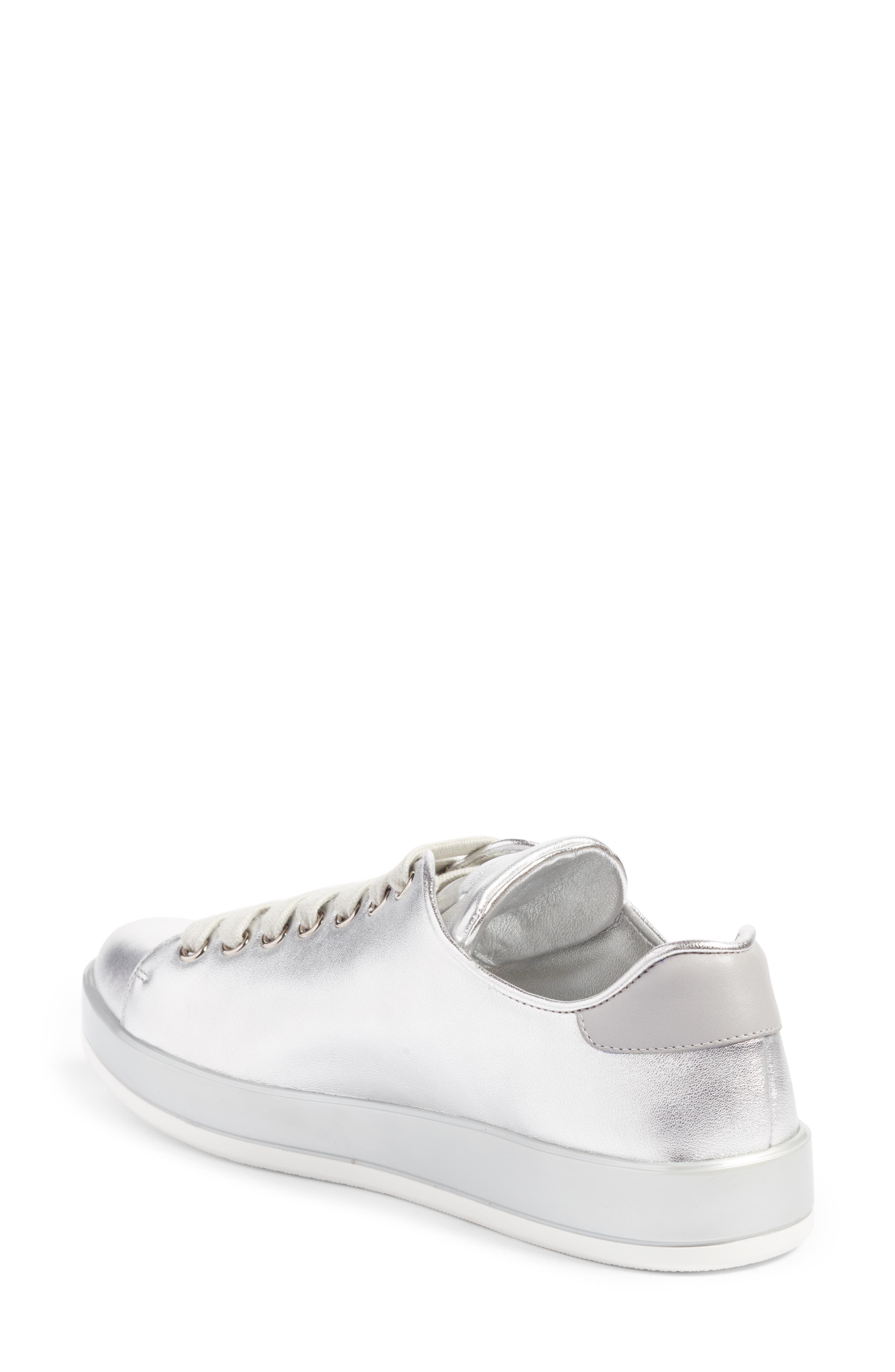 Low Top Sneaker,                             Alternate thumbnail 2, color,                             Metallic Silver