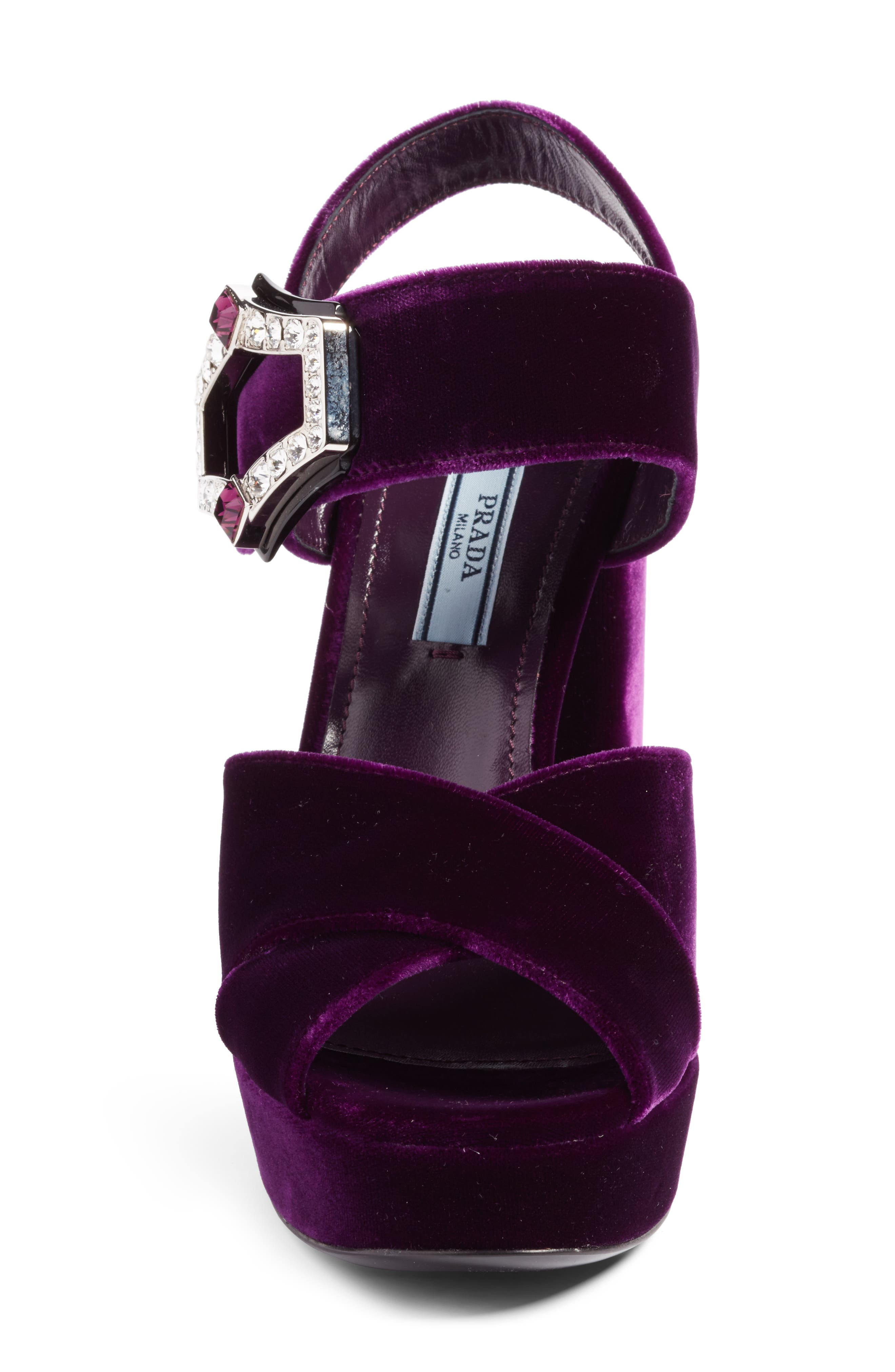 Criss Cross Platform Sandal,                             Alternate thumbnail 4, color,                             Purple