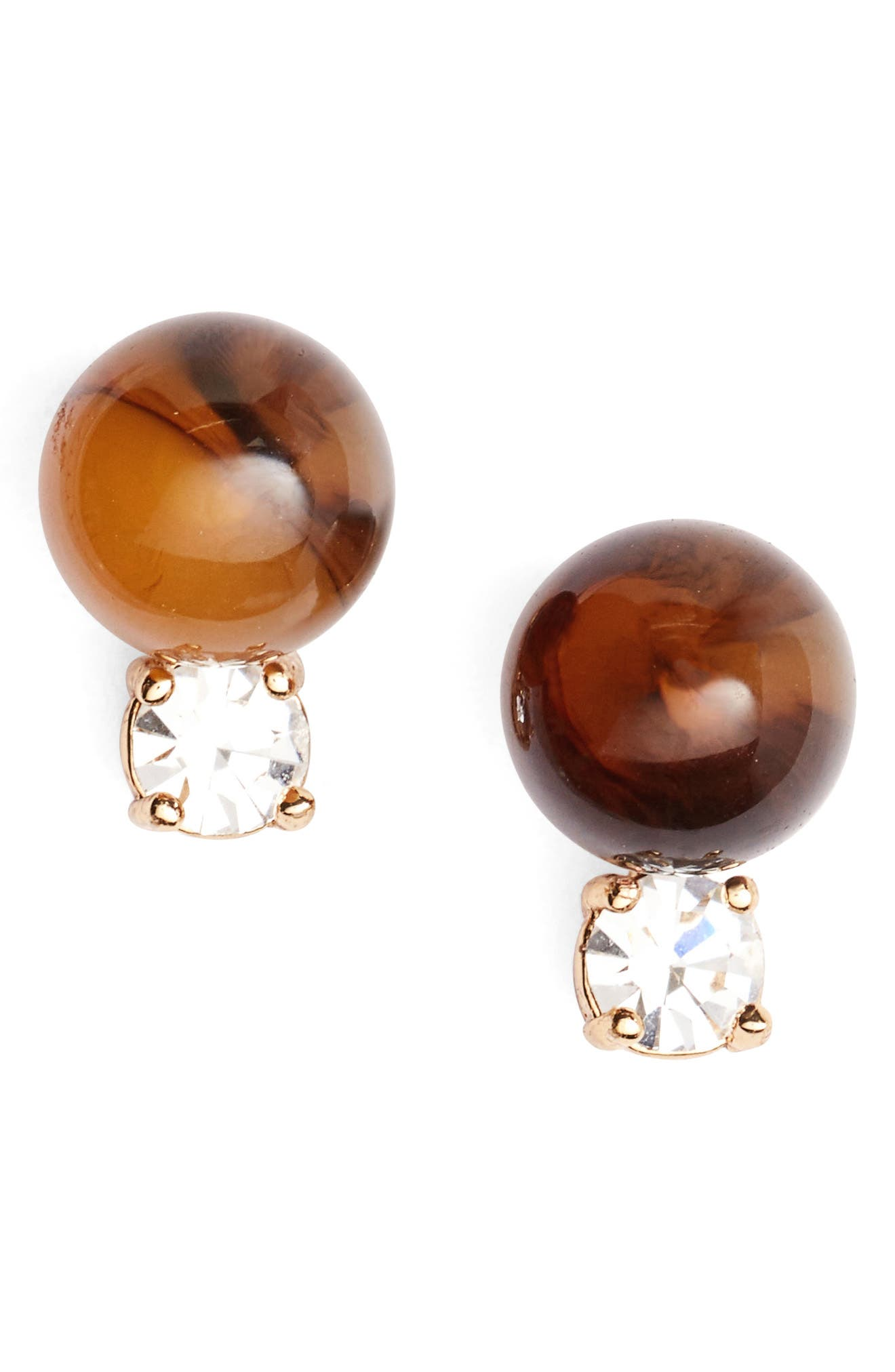 in a flash stud earrings,                         Main,                         color, Tortoise