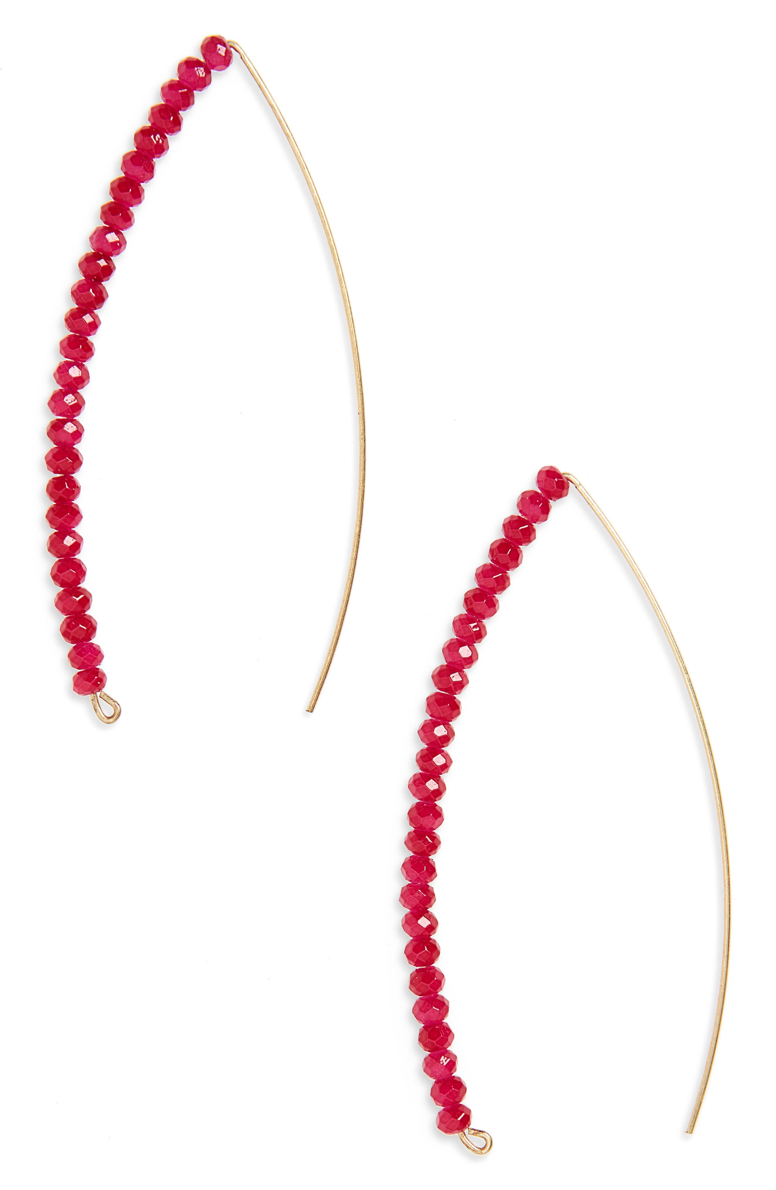 Canvas Jewelry Glass Marquis Threader Earrings
