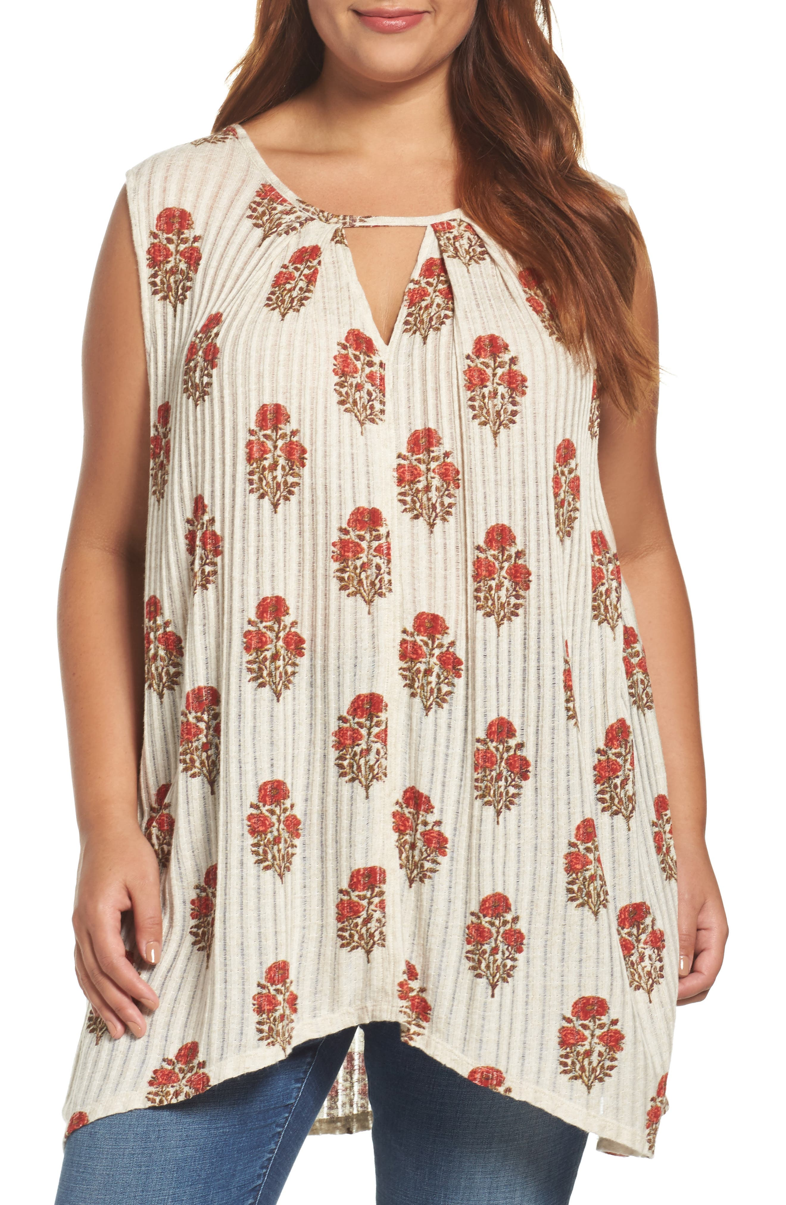 Lucky Brand Woodblock Print Tunic (Plus Size)