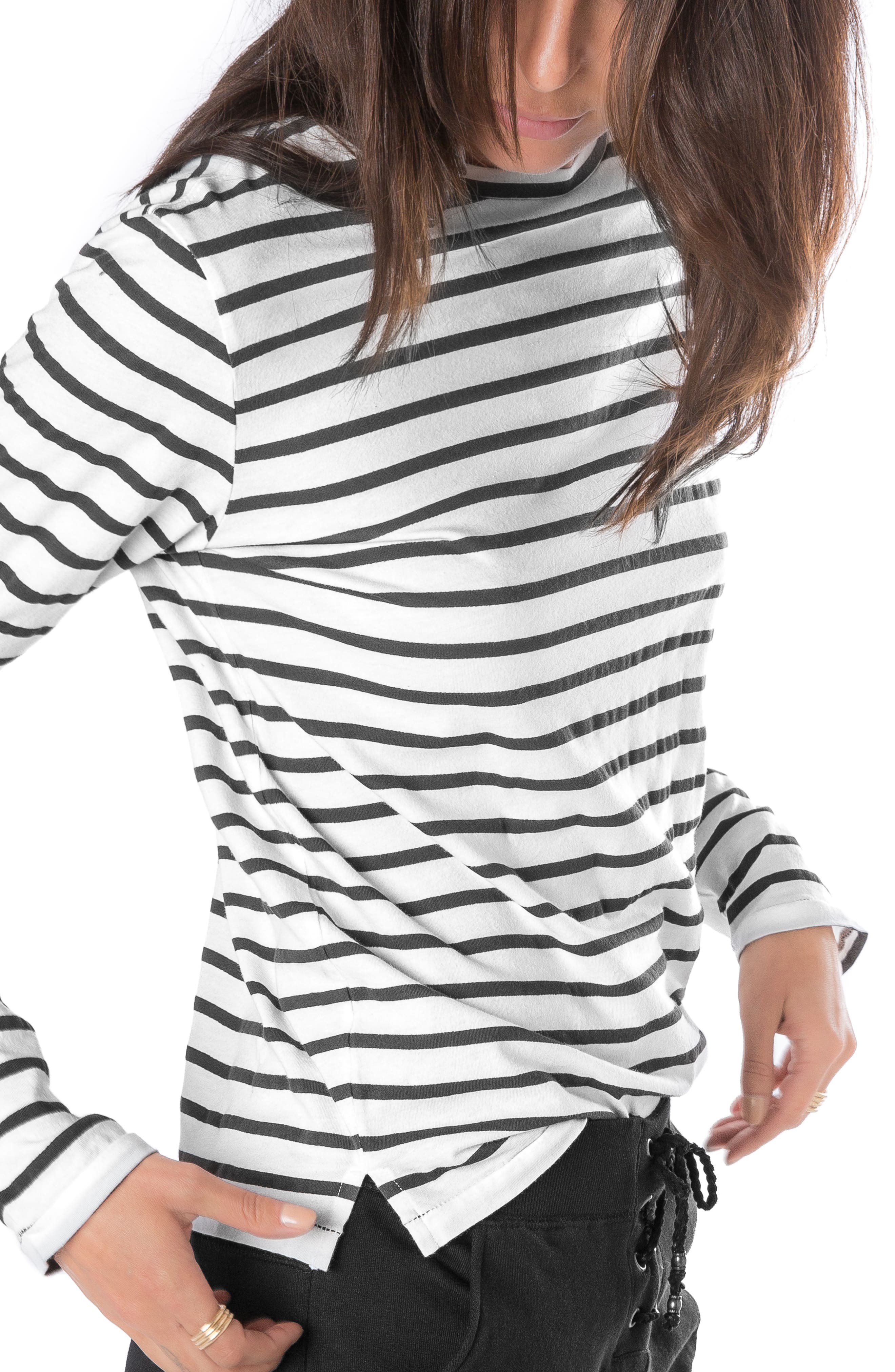 Alternate Image 3  - Ragdoll Stripe Long Sleeve Tee