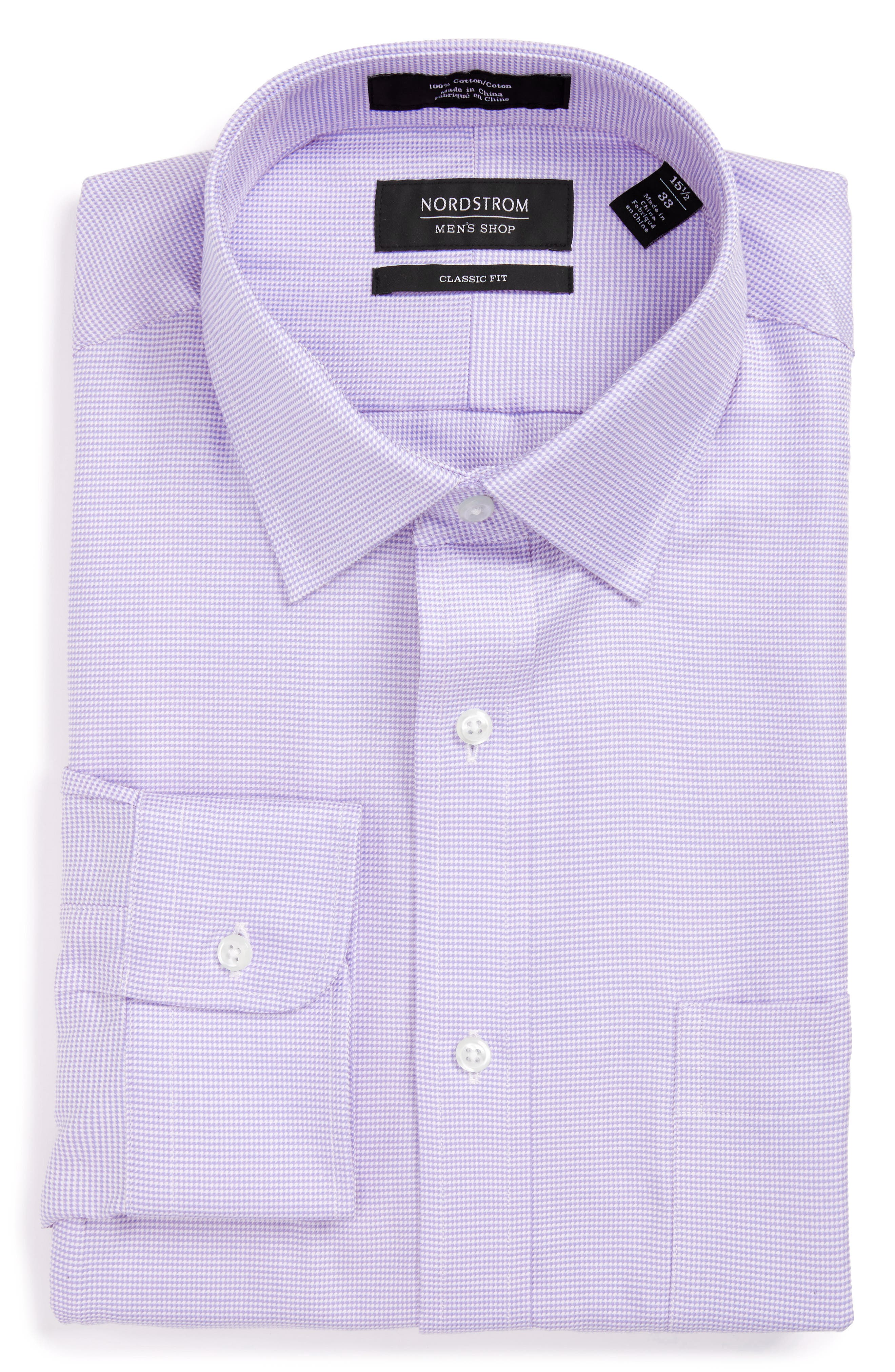 Alternate Image 4  - Nordstrom Men's Shop Classic Fit Microgrid Dress Shirt