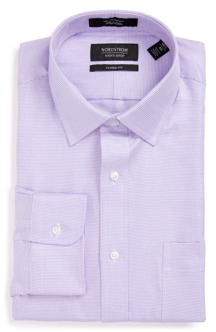 Nordstrom men 39 s shop classic fit microgrid dress shirt for Mens dress shirts outlet