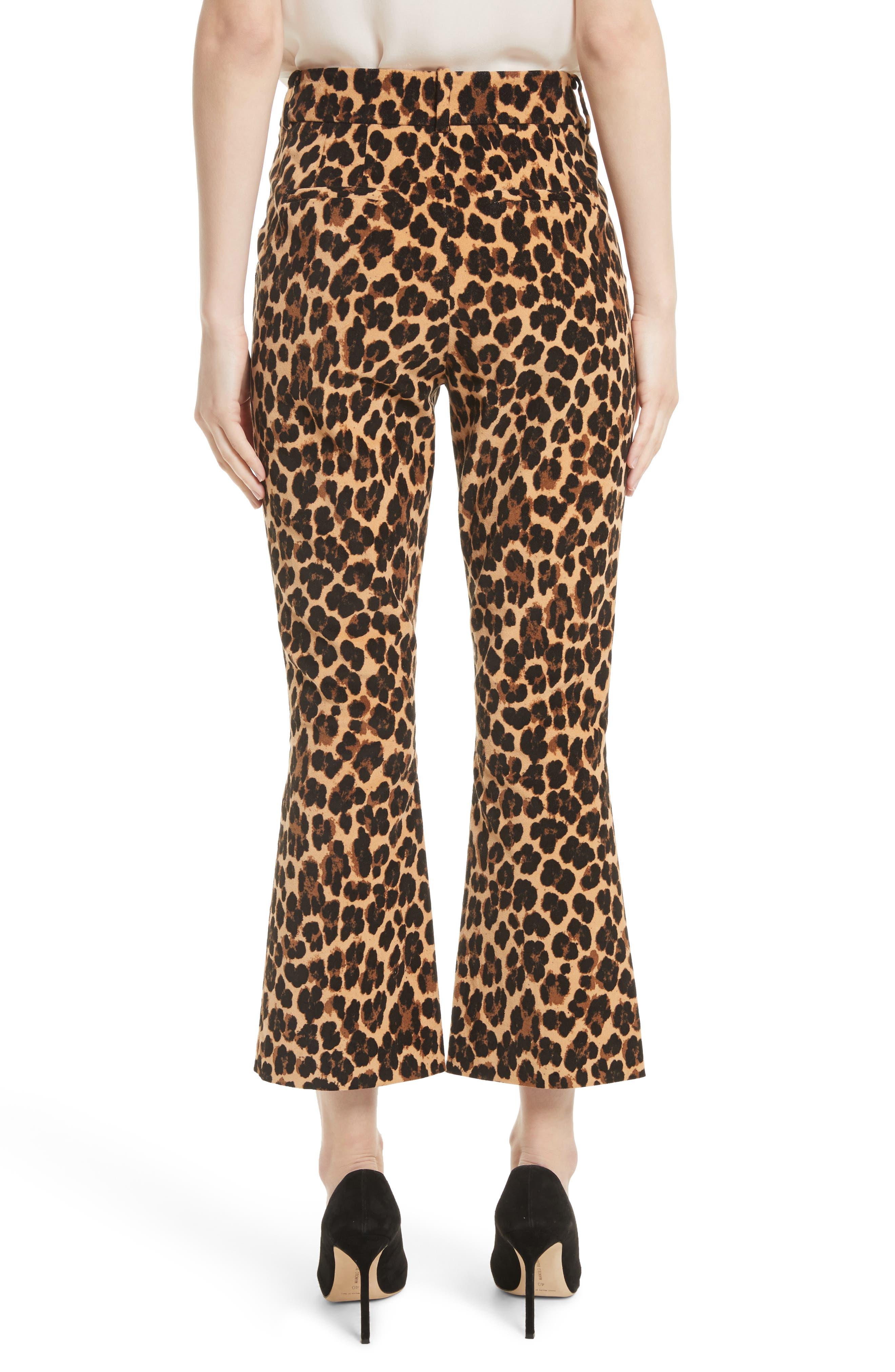 Alternate Image 3  - FRAME Cheetah Print Velvet Crop Flare Pants