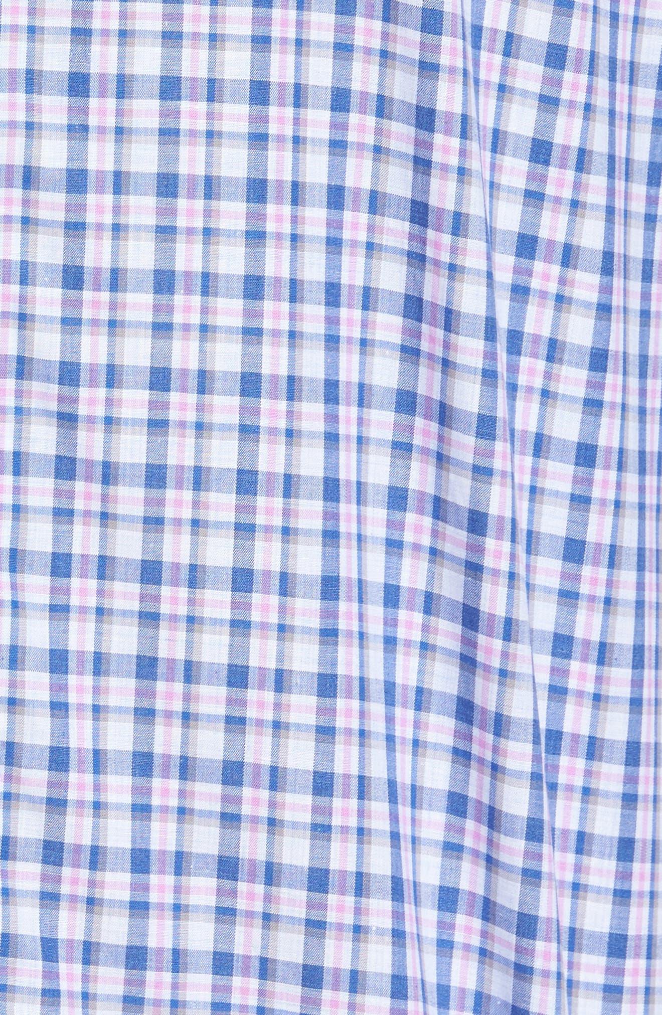 Bruno Plaid Sport Shrit,                             Alternate thumbnail 5, color,                             Pink/ Blue