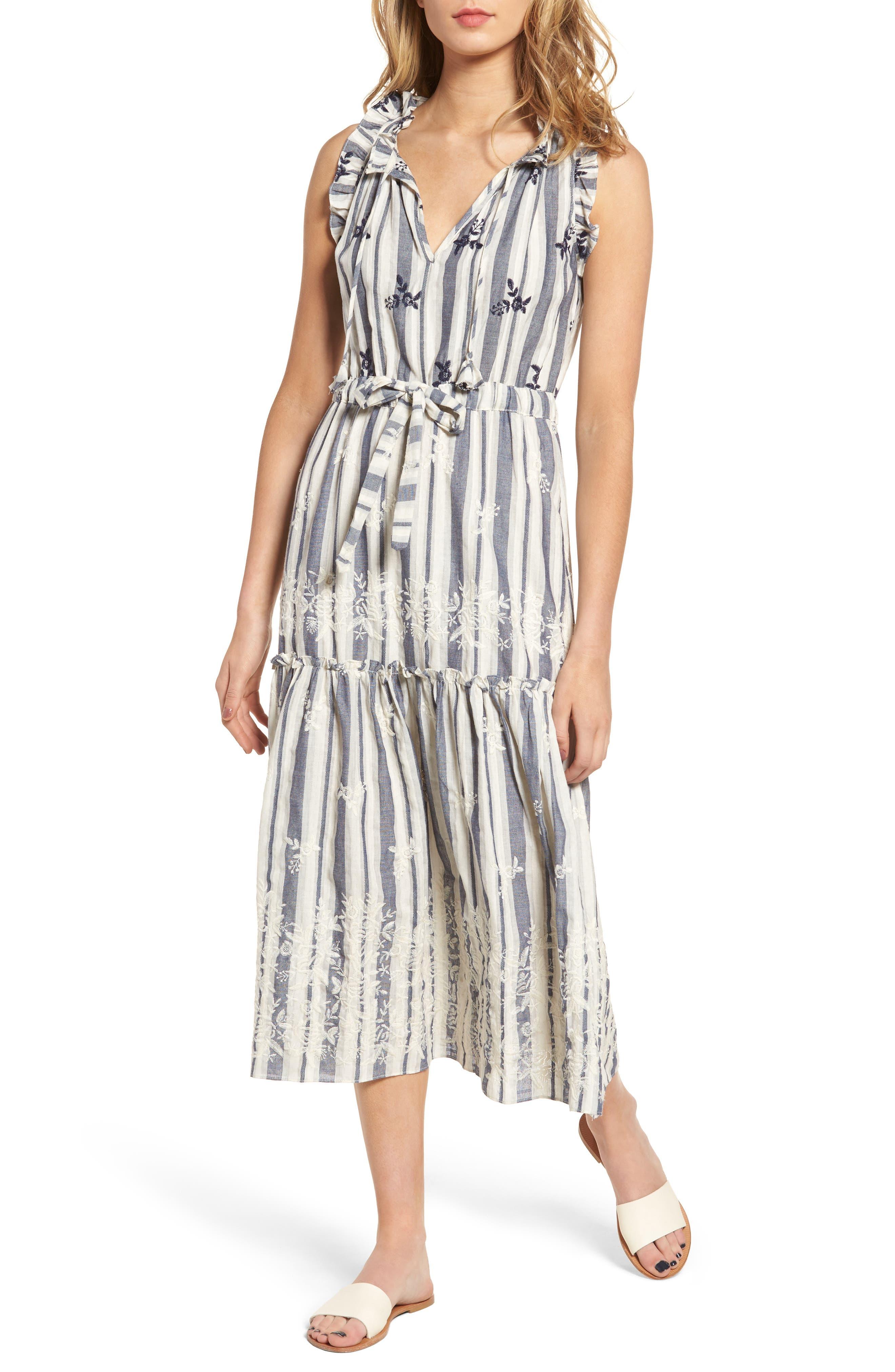 Martina Midi Dress,                         Main,                         color, Fl10