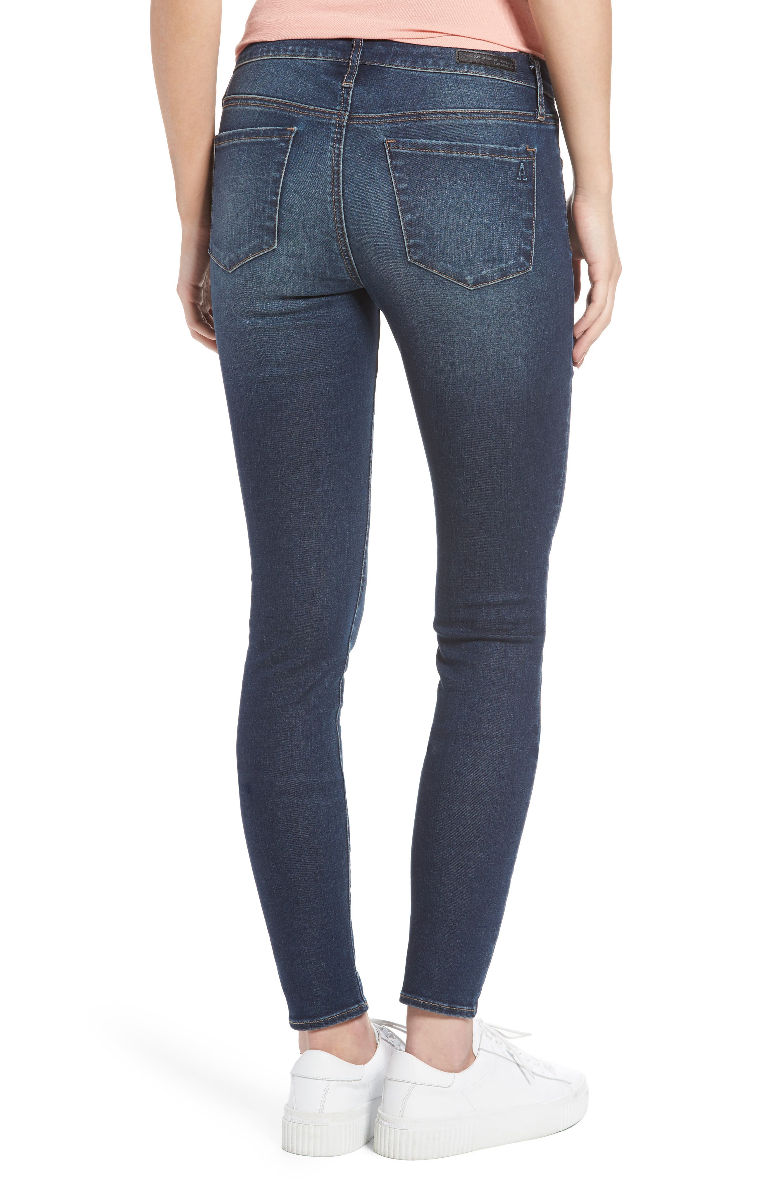 Alternate Image 2  - Articles of Society Melody Skinny Jeans (Blue Ridge)