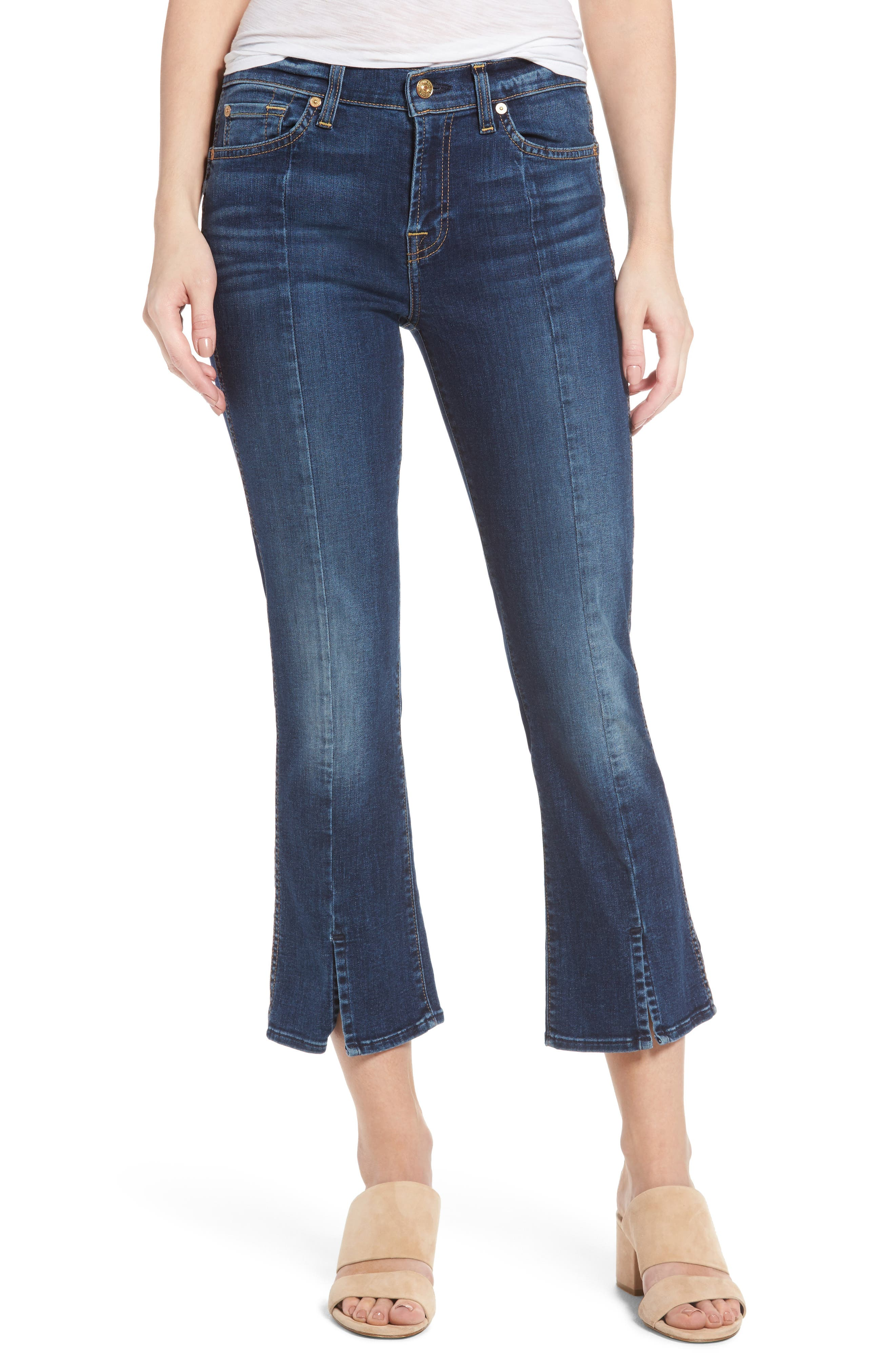 Main Image - 7 For All Mankind® Crop Bootcut Jeans (Stunning Bleeker)
