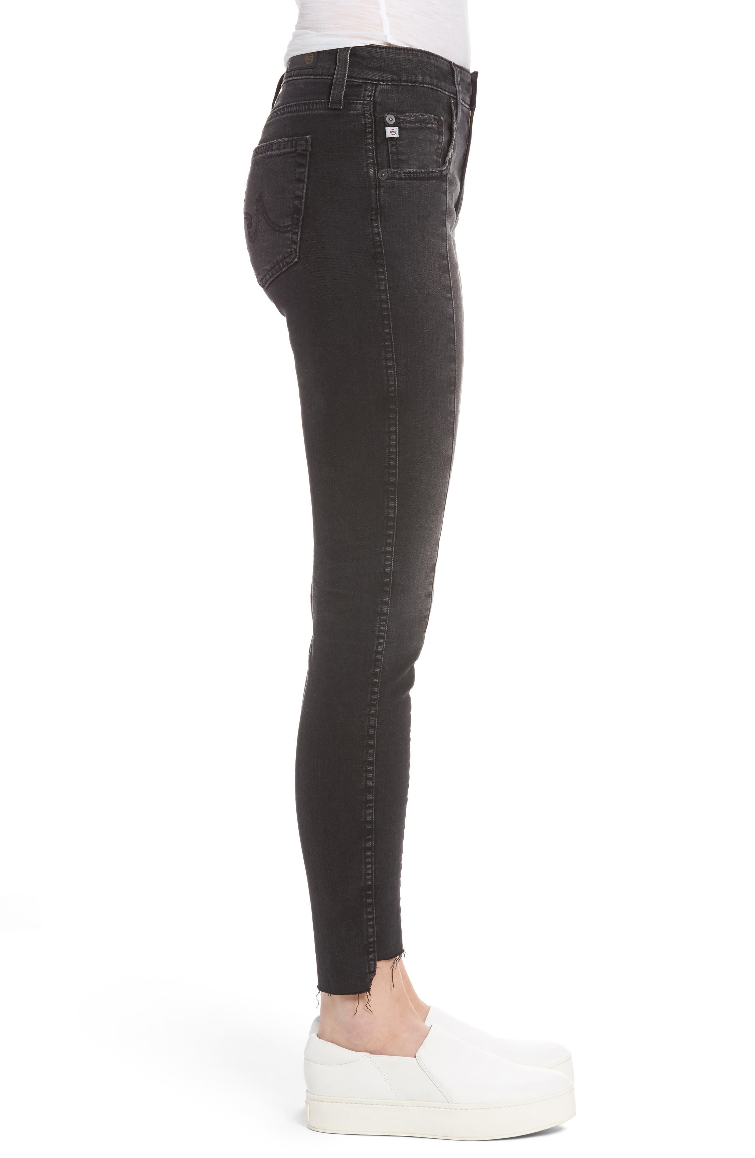 Alternate Image 4  - AG The Farrah High Waist Ankle Skinny Jeans (Thirteen)