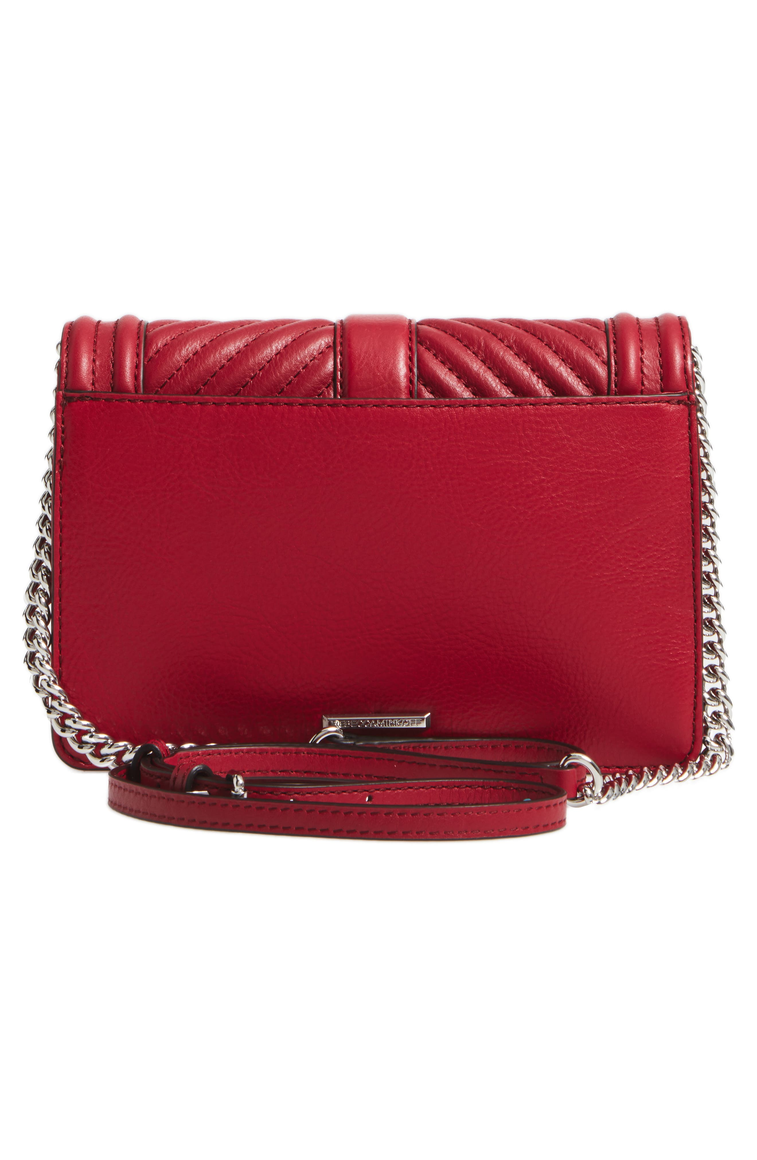 Small Love Leather Crossbody Bag,                             Alternate thumbnail 2, color,                             Beet/ Silver Hardware