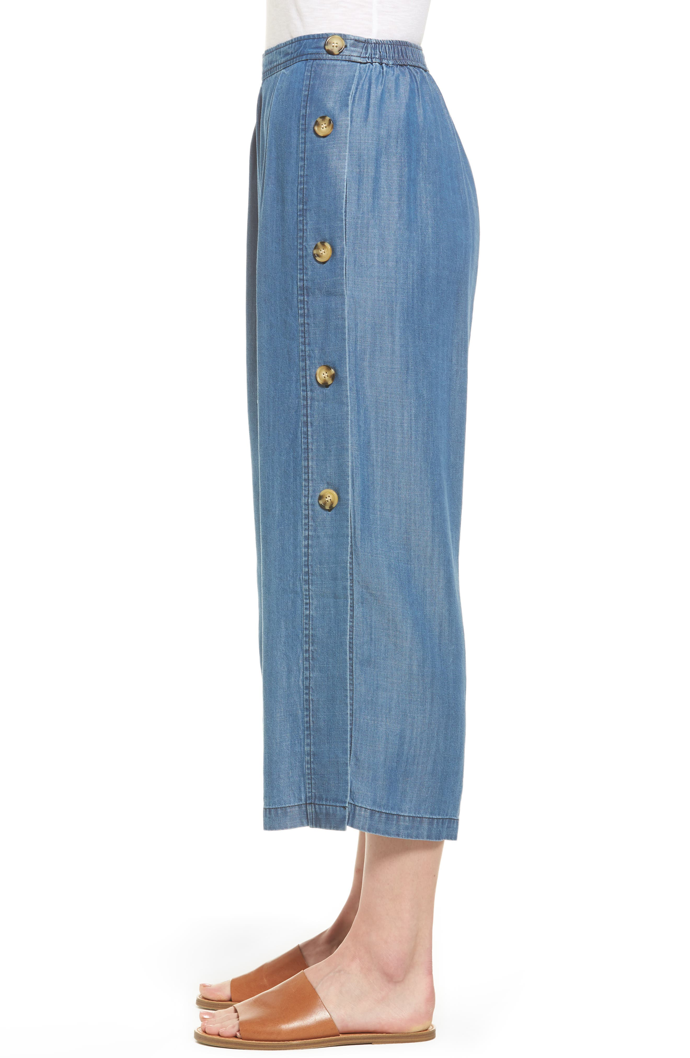 Alternate Image 4  - Catherine Catherine Malandrino Watson Wide Leg Crop Pants