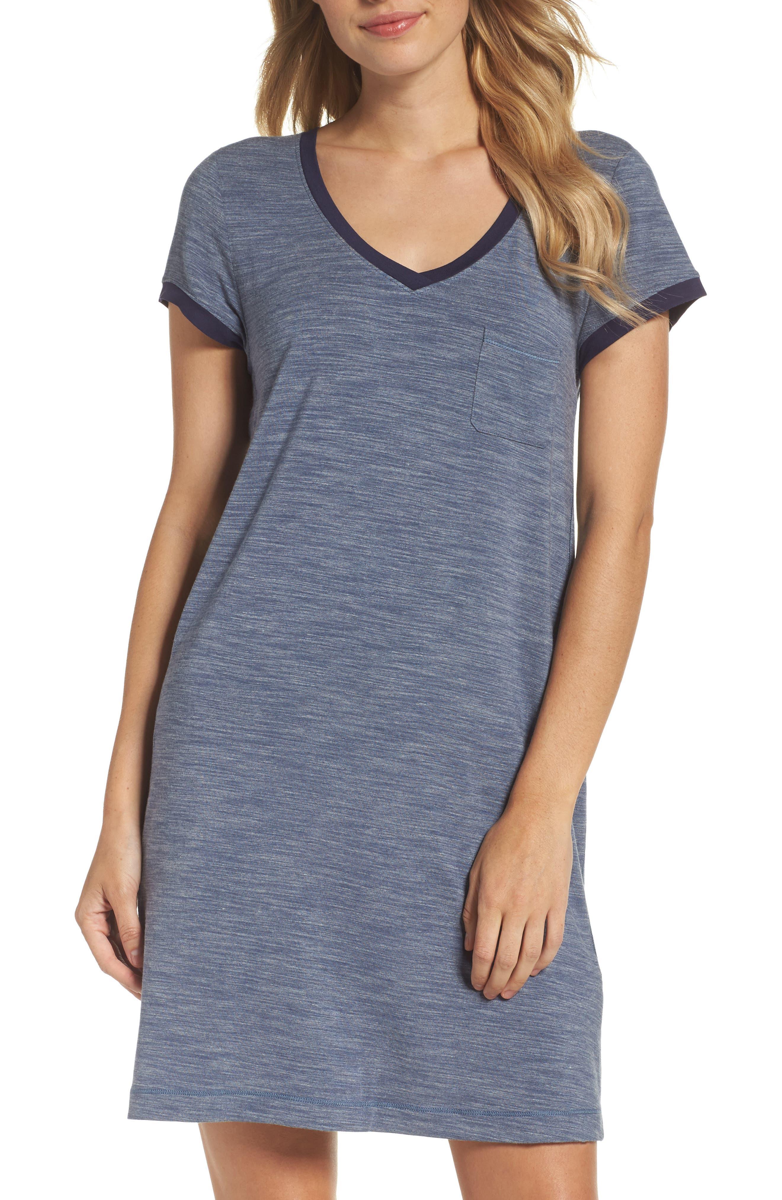 DKNY 'City Essential' Stripe Jersey Sleep Shirt