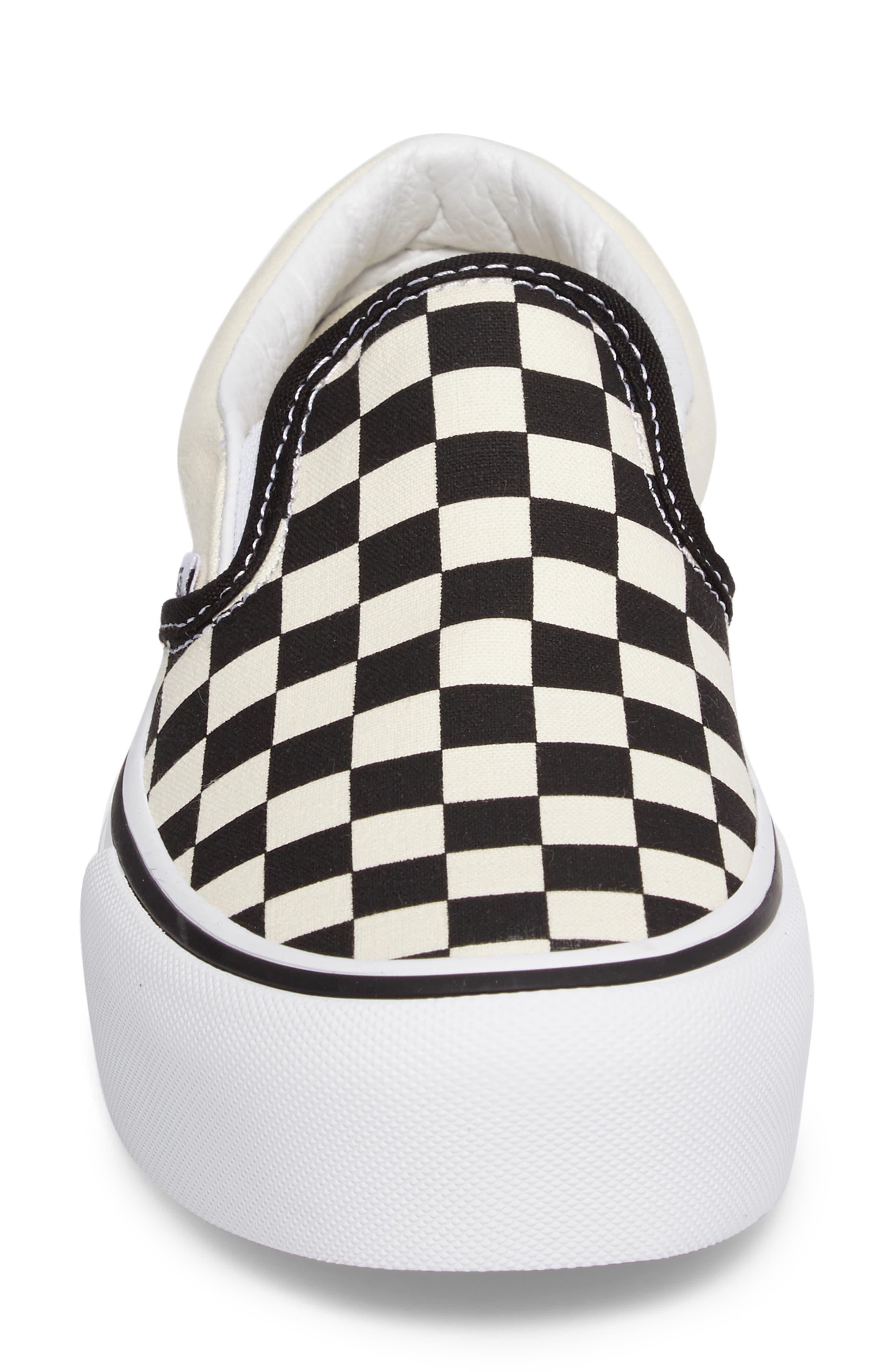 Platform Slip-On Sneaker,                             Alternate thumbnail 4, color,                             Black/ Black/ White