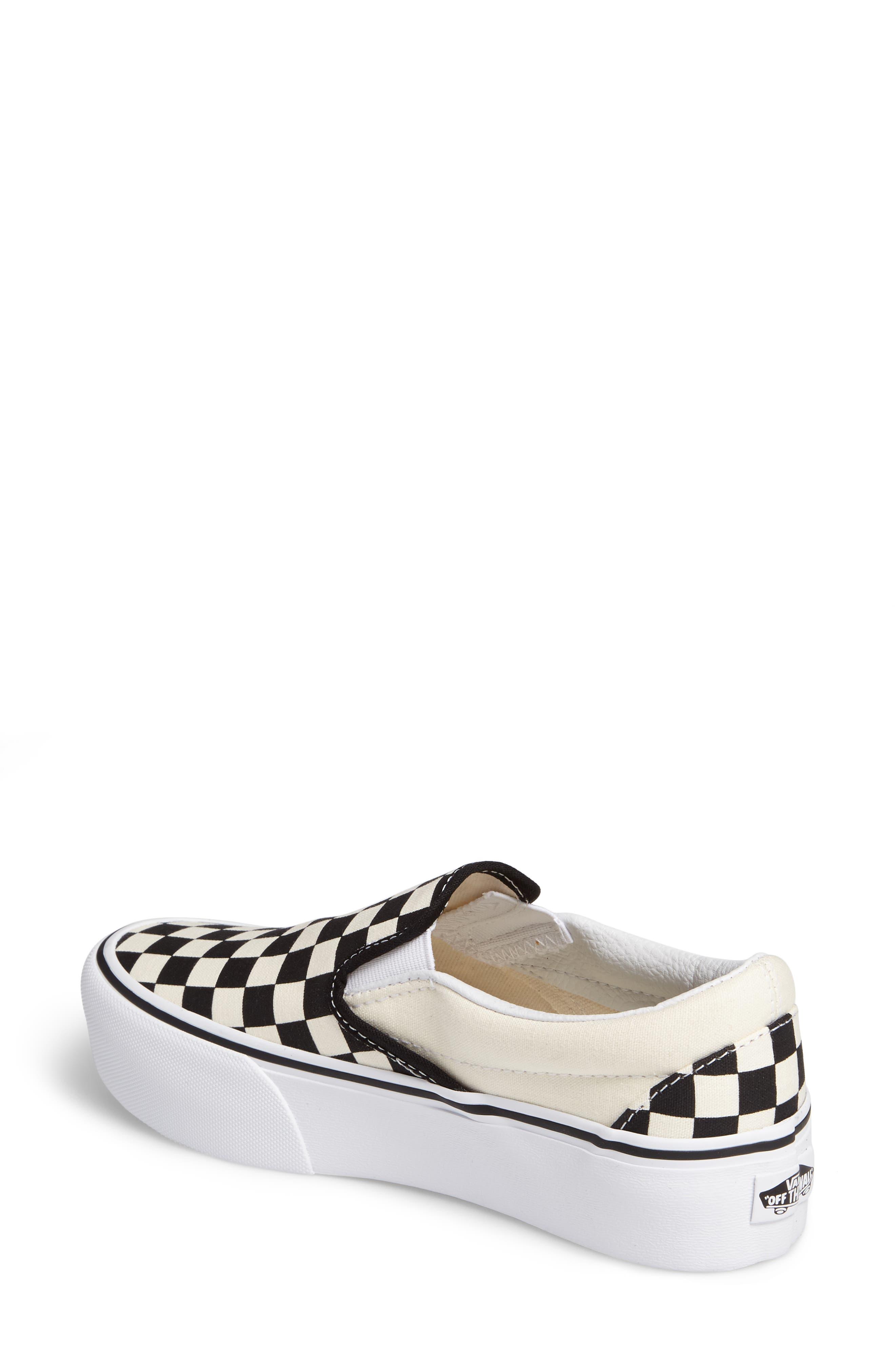 Platform Slip-On Sneaker,                             Alternate thumbnail 2, color,                             Black/ Black/ White