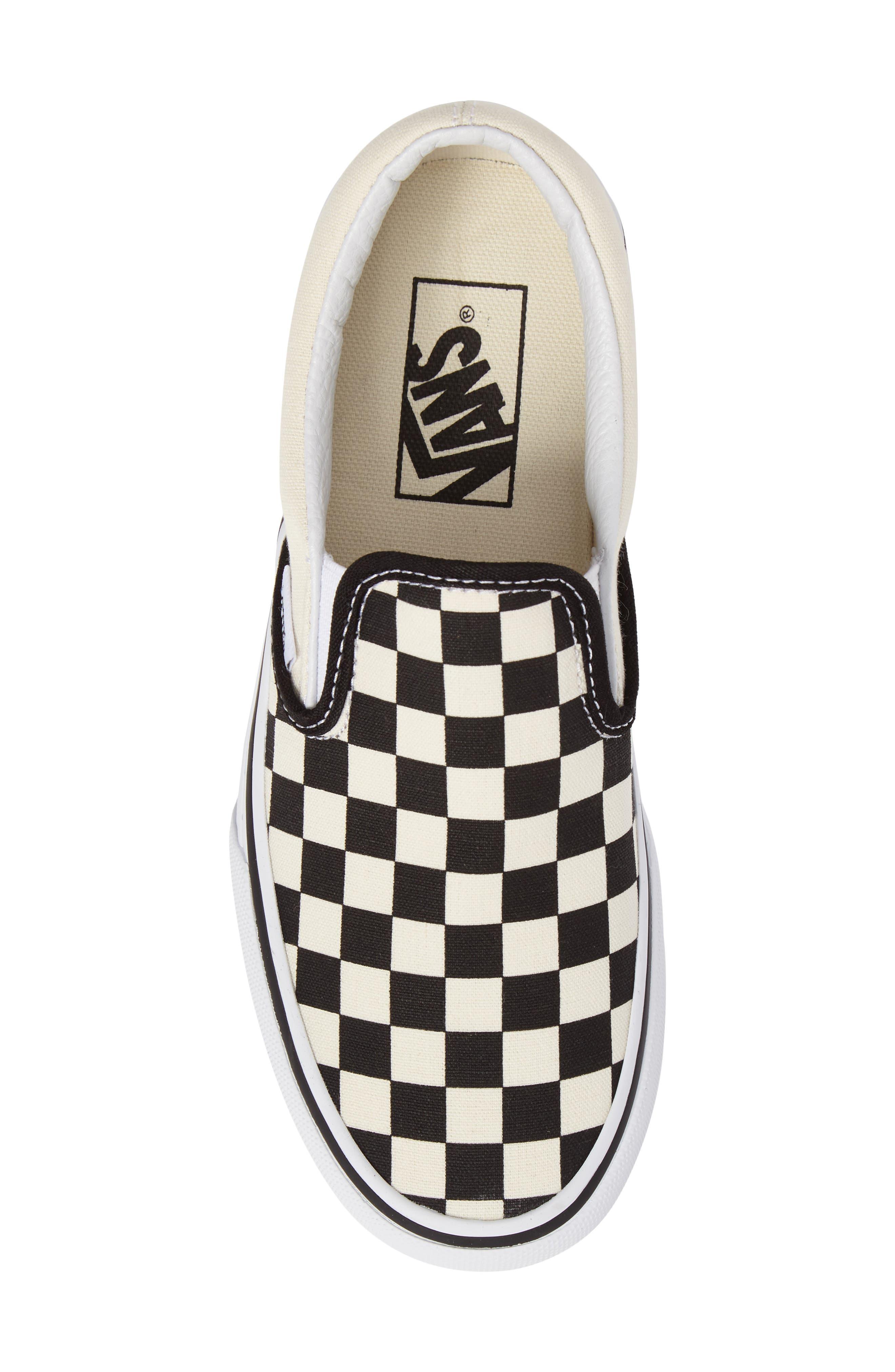 Platform Slip-On Sneaker,                             Alternate thumbnail 5, color,                             Black/ Black/ White