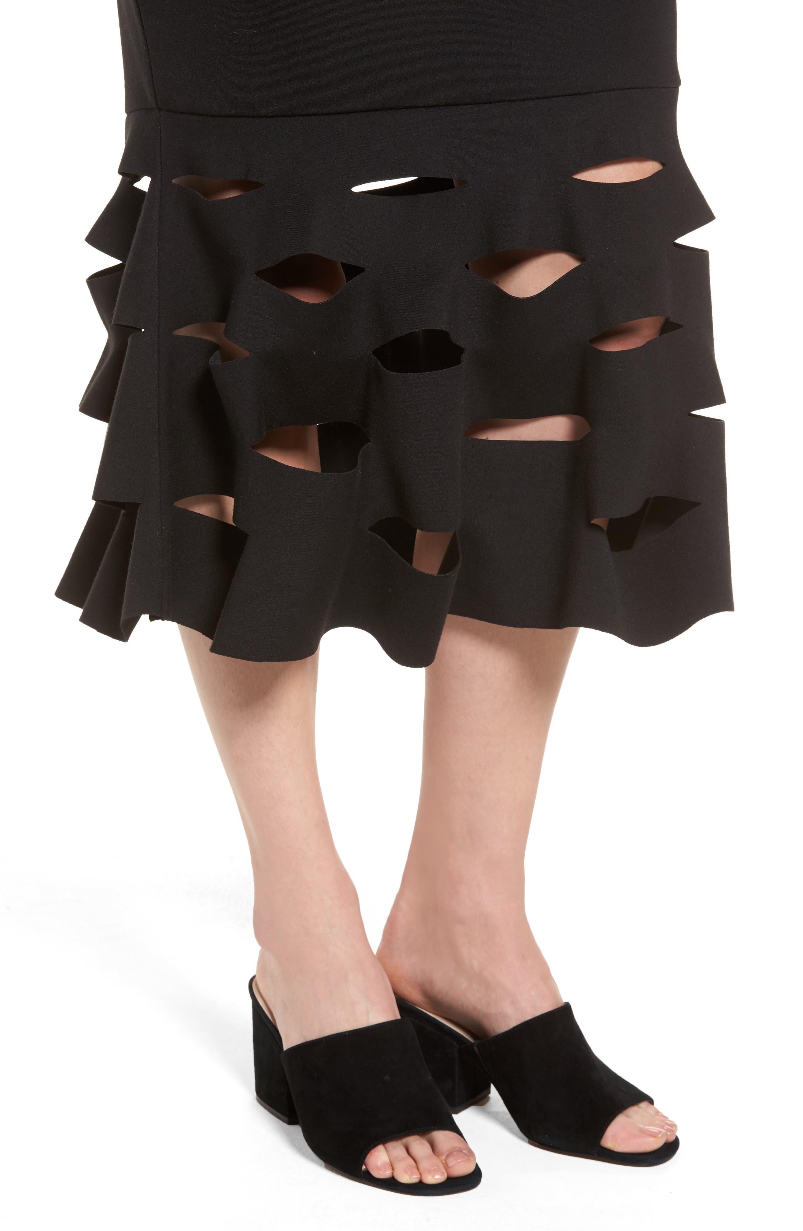 Alternate Image 4  - Trouvé Slash Bonded Midi Skirt