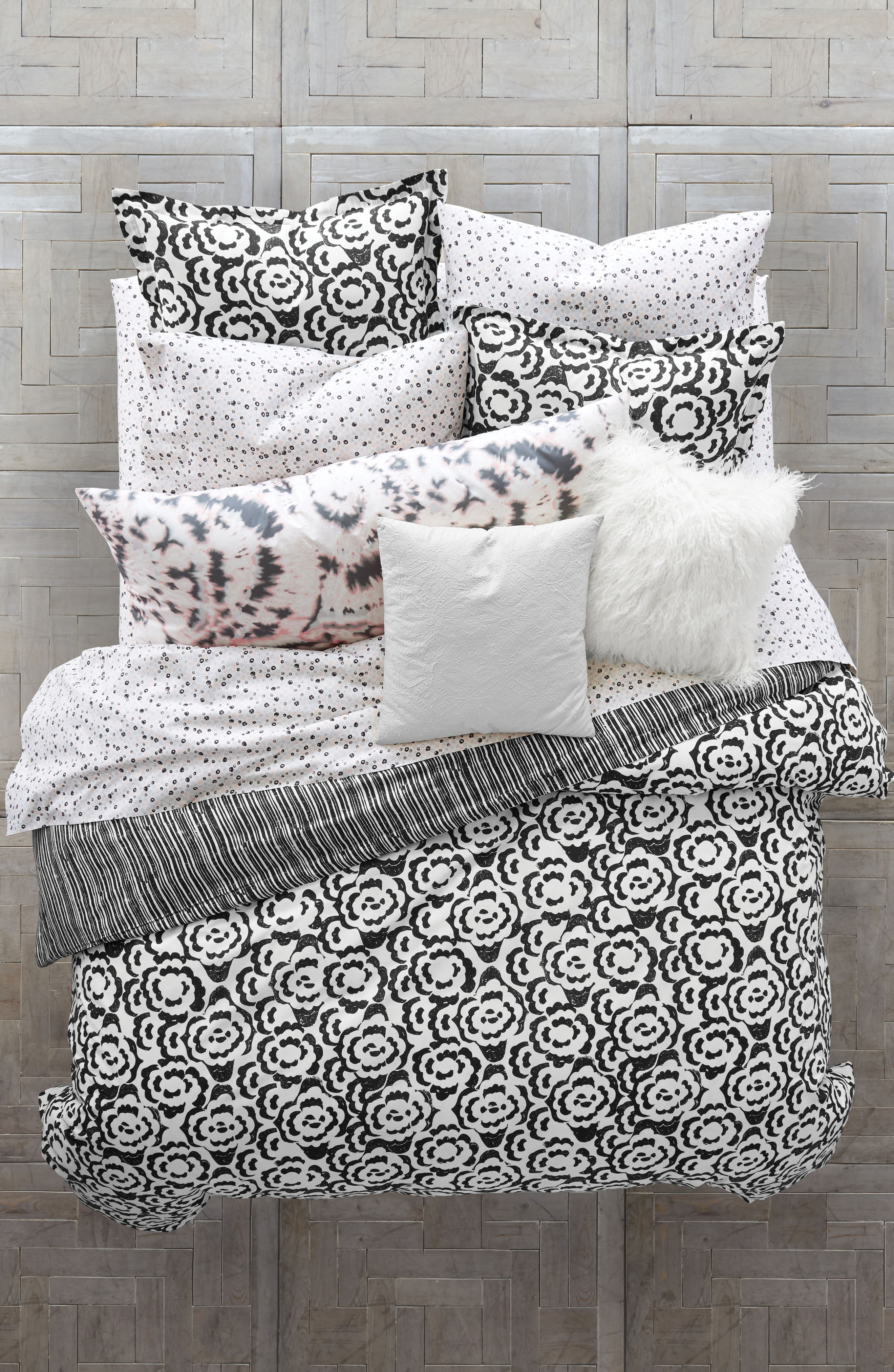 Main Image - BCBGeneration Floral Clouds Comforter & Sham Set