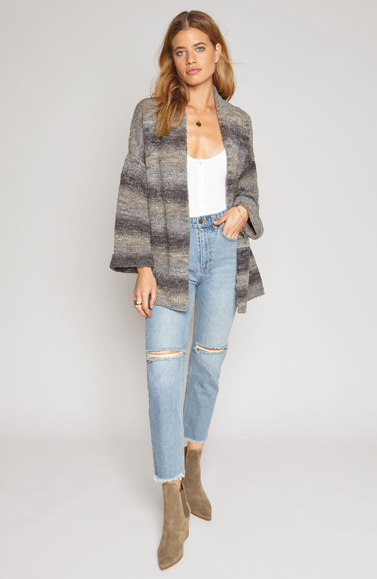 Beckett Stripe Sweater,                             Alternate thumbnail 2, color,                             Grey Mist