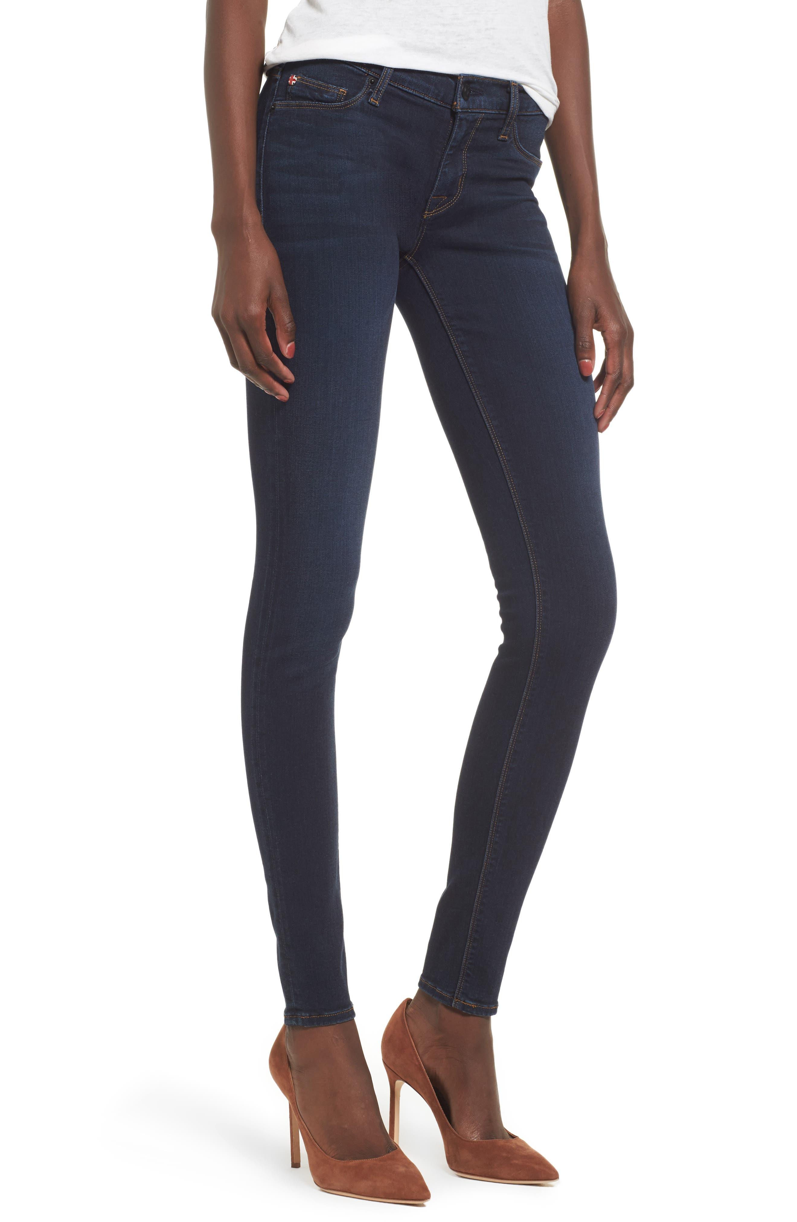 Main Image - Hudson Jeans 'Krista' Super Skinny Jeans (Skylark)