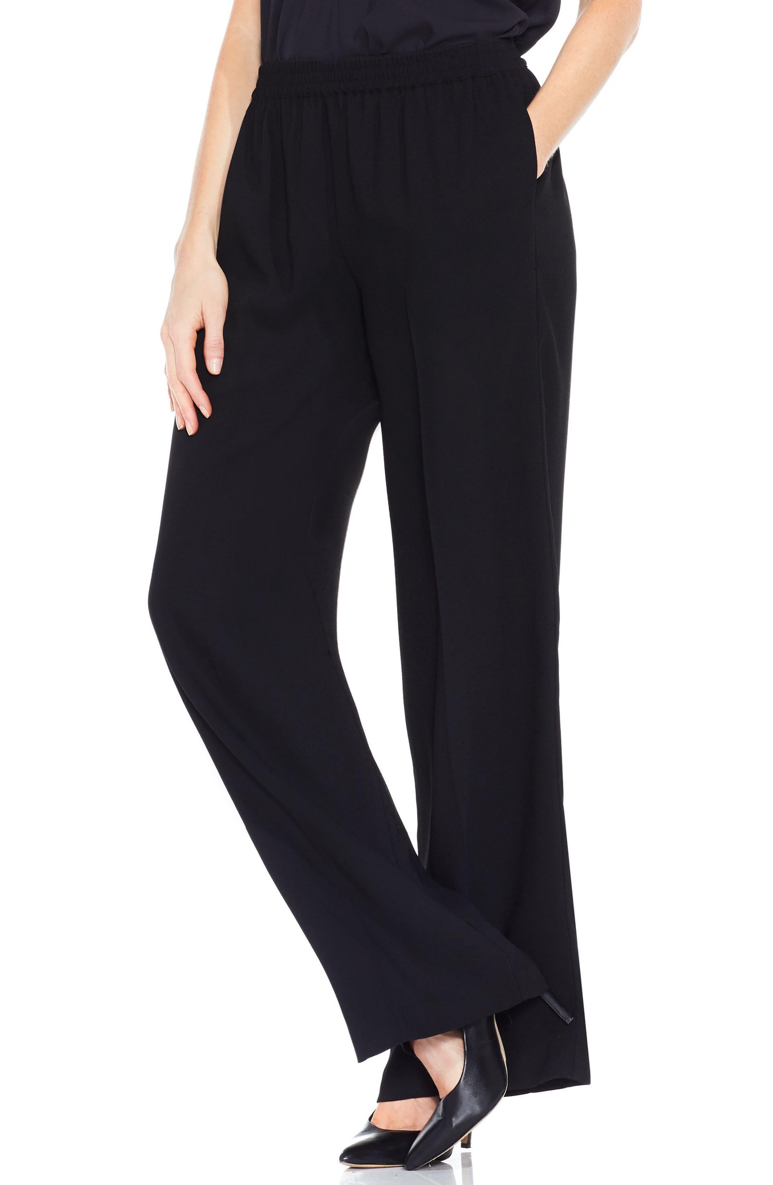 Wide Leg Pants,                         Main,                         color, Rich Black